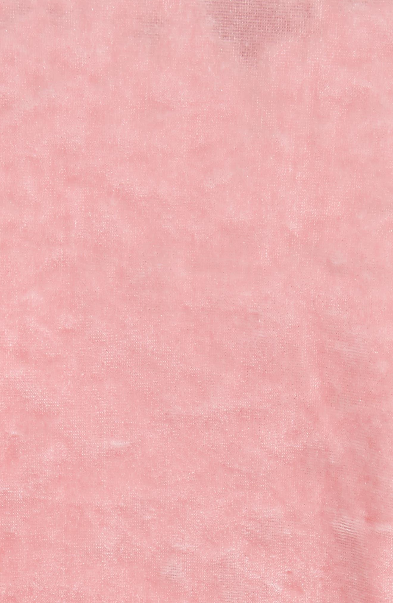Alternate Image 6  - Tibi Stretch Velvet Baby Tee