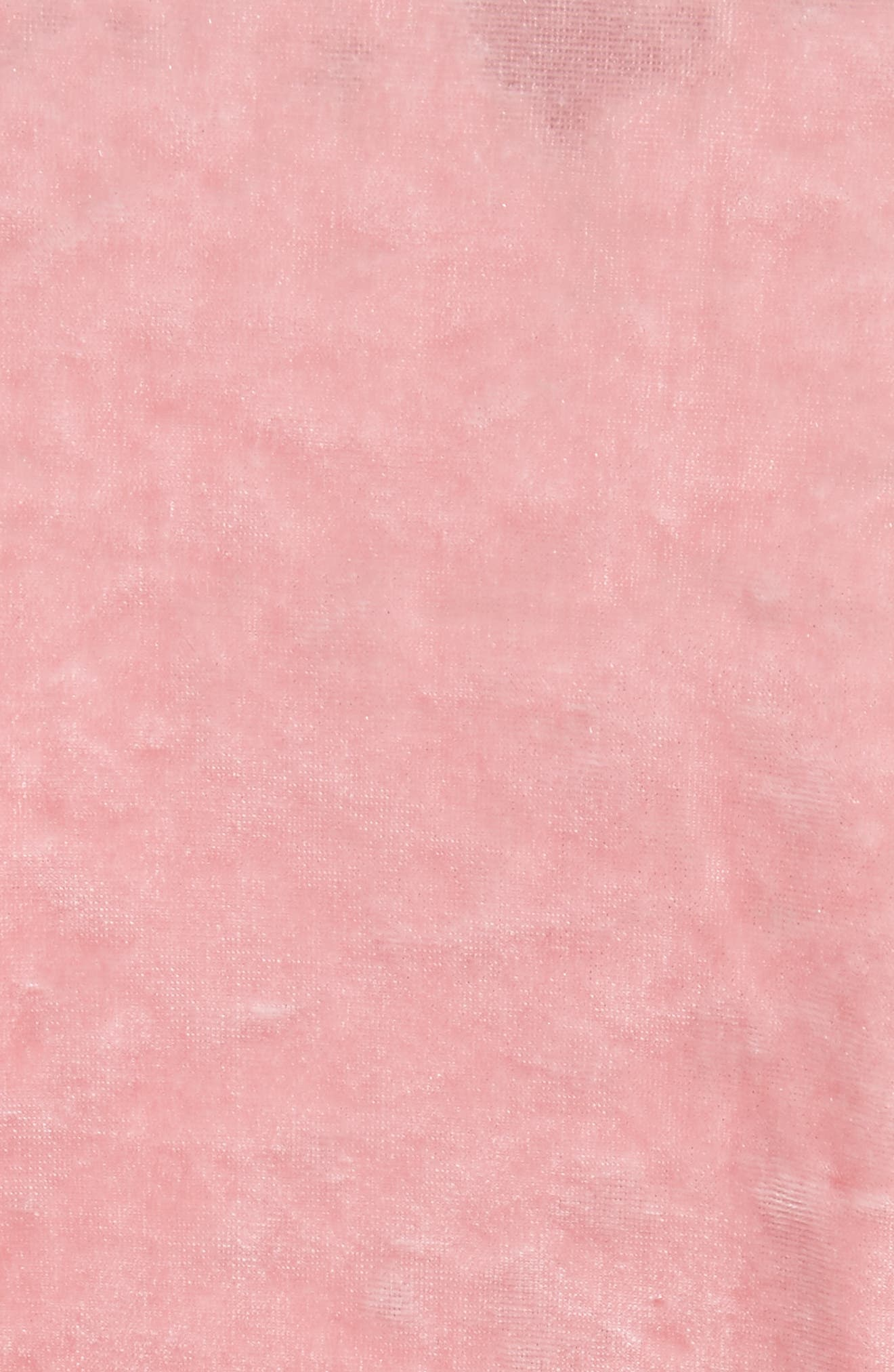 Stretch Velvet Baby Tee,                             Alternate thumbnail 6, color,                             Calla Pink
