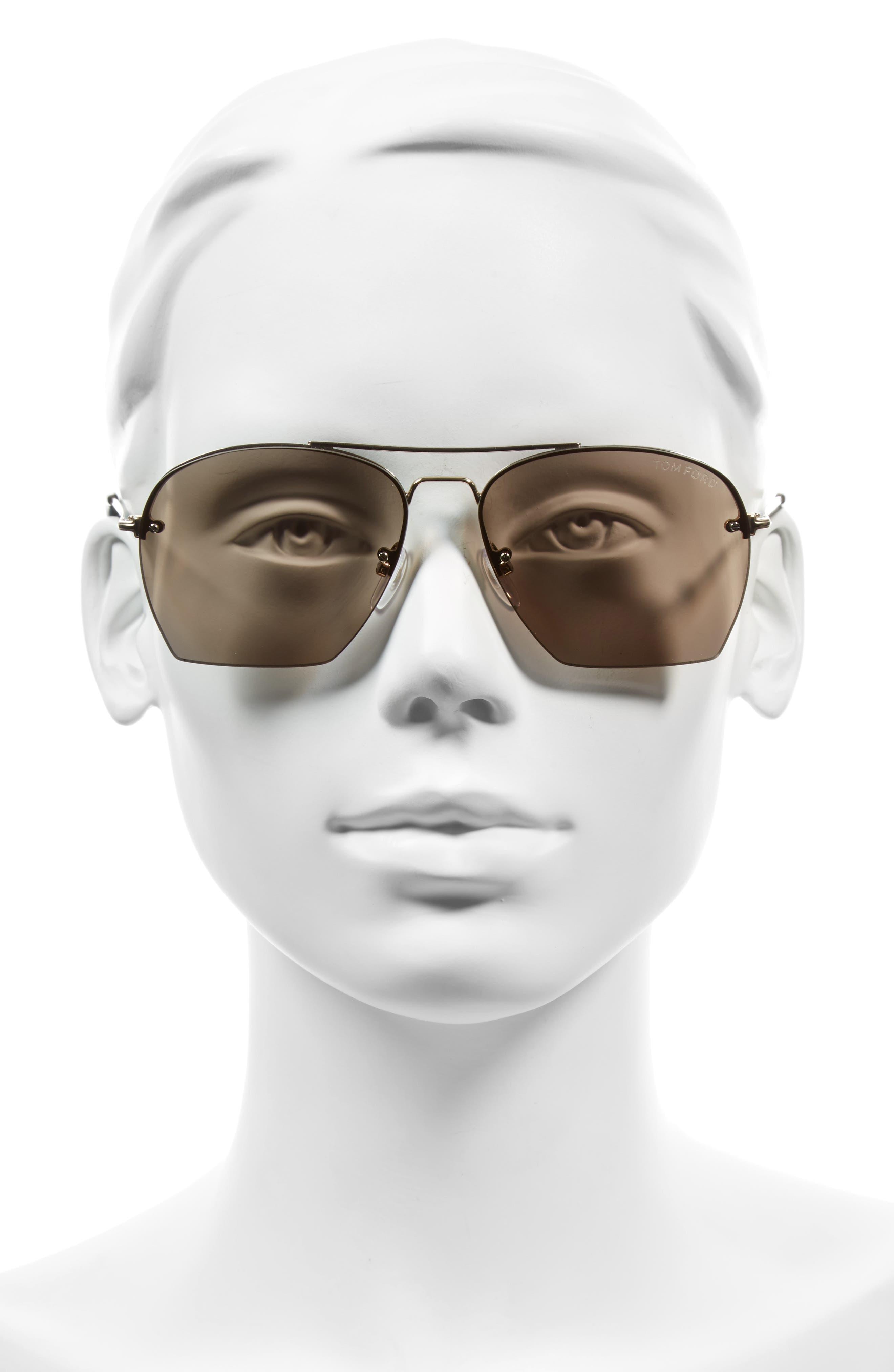 Alternate Image 2  - Tom Ford Whelan 58mm Aviator Sunglasses