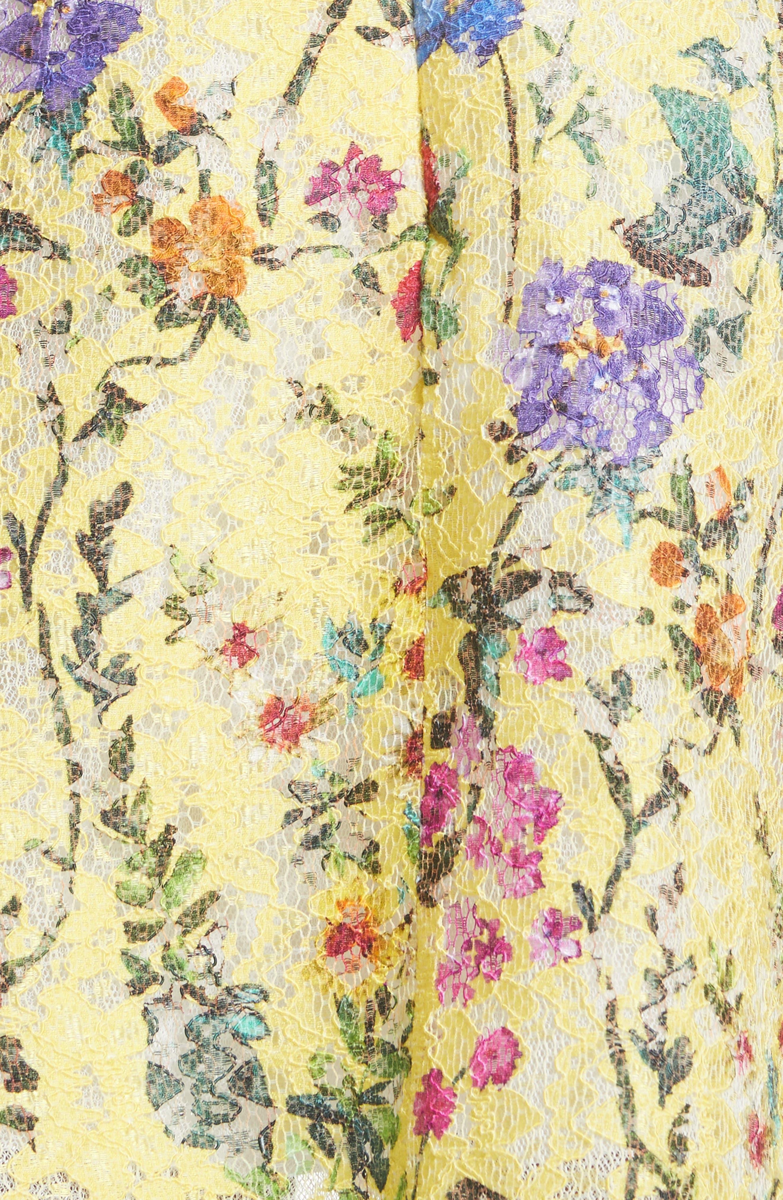Alternate Image 3  - Monique Lhuillier Garden Print Lace Fit & Flare Dress