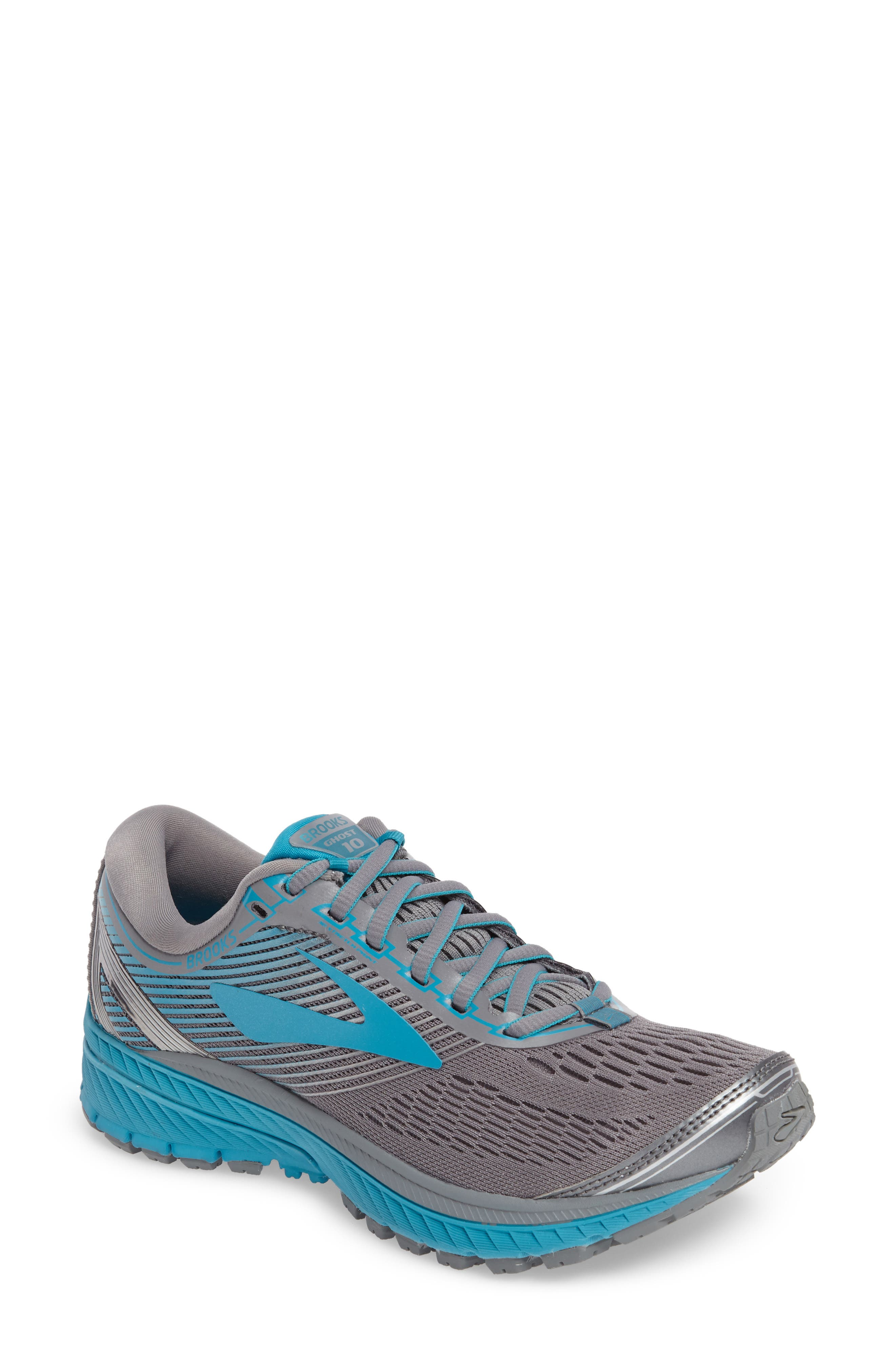 Ghost 10 Running Shoe,                         Main,                         color, Primer Grey/ Teal/ Silver