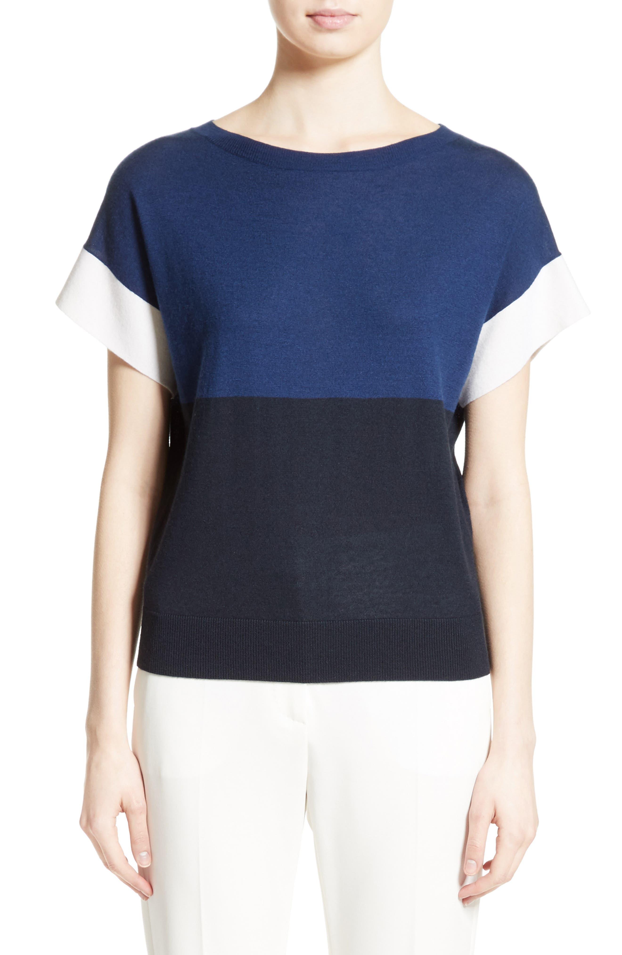 Colimbo Silk & Cashmere Top,                             Main thumbnail 1, color,                             Ultra Marine