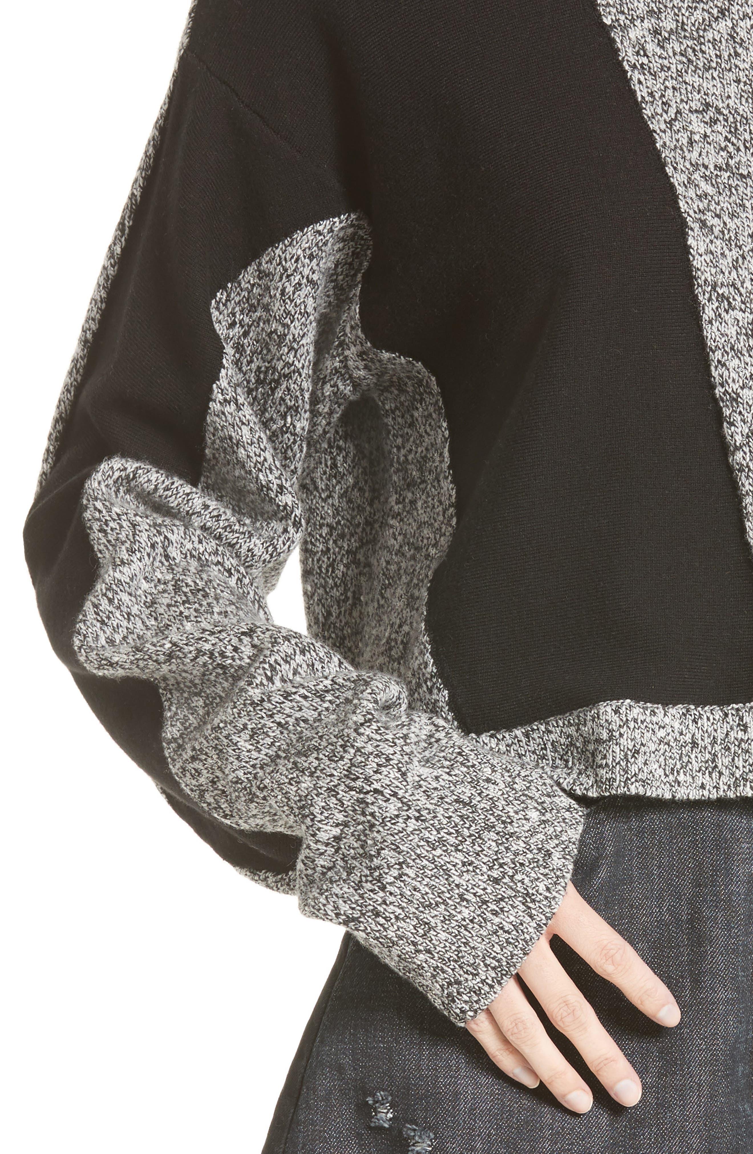 Sana Sweater,                             Alternate thumbnail 5, color,                             Grey Melange