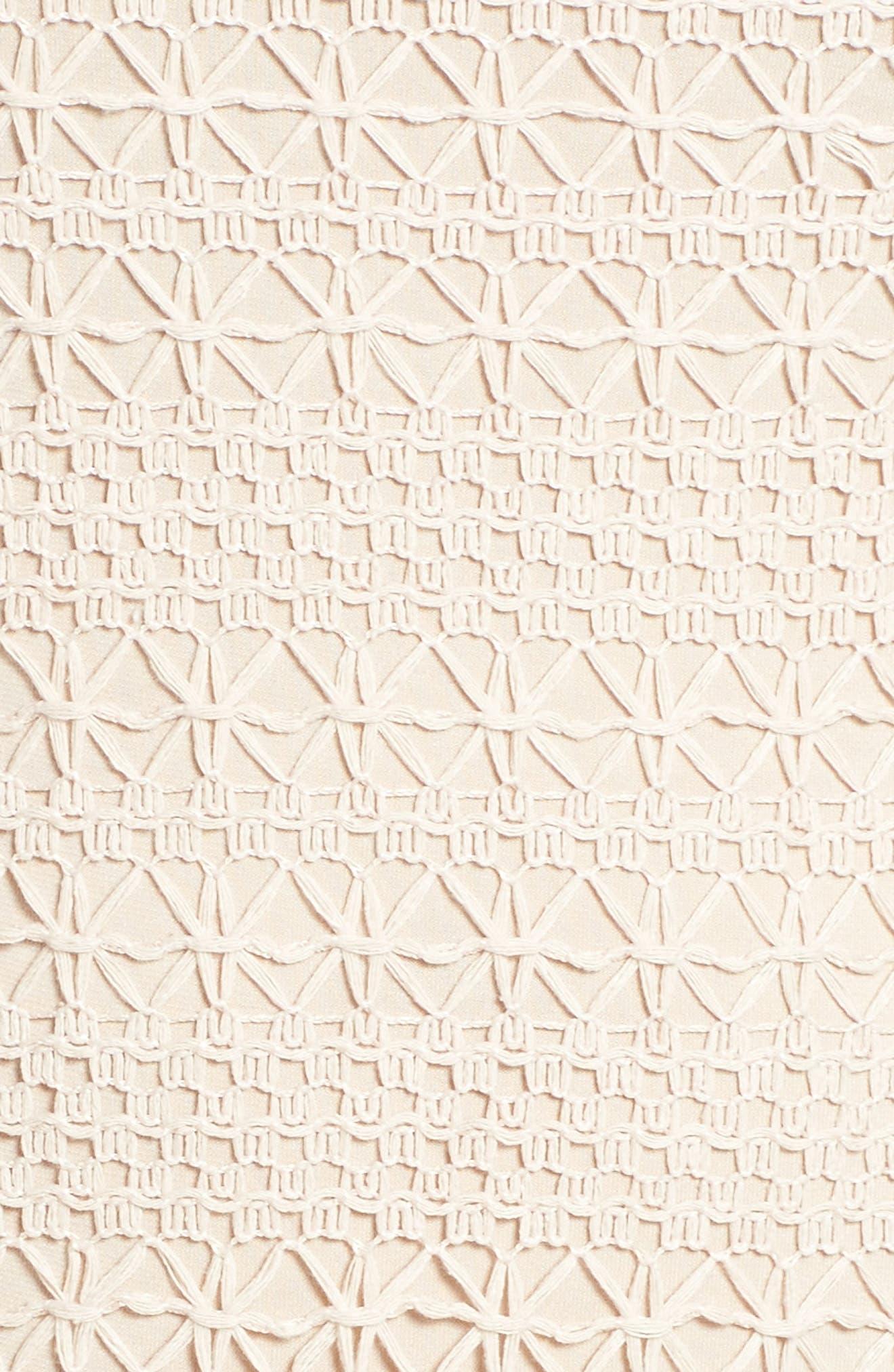 Crochet Maxi Dress,                             Alternate thumbnail 5, color,                             Ecru