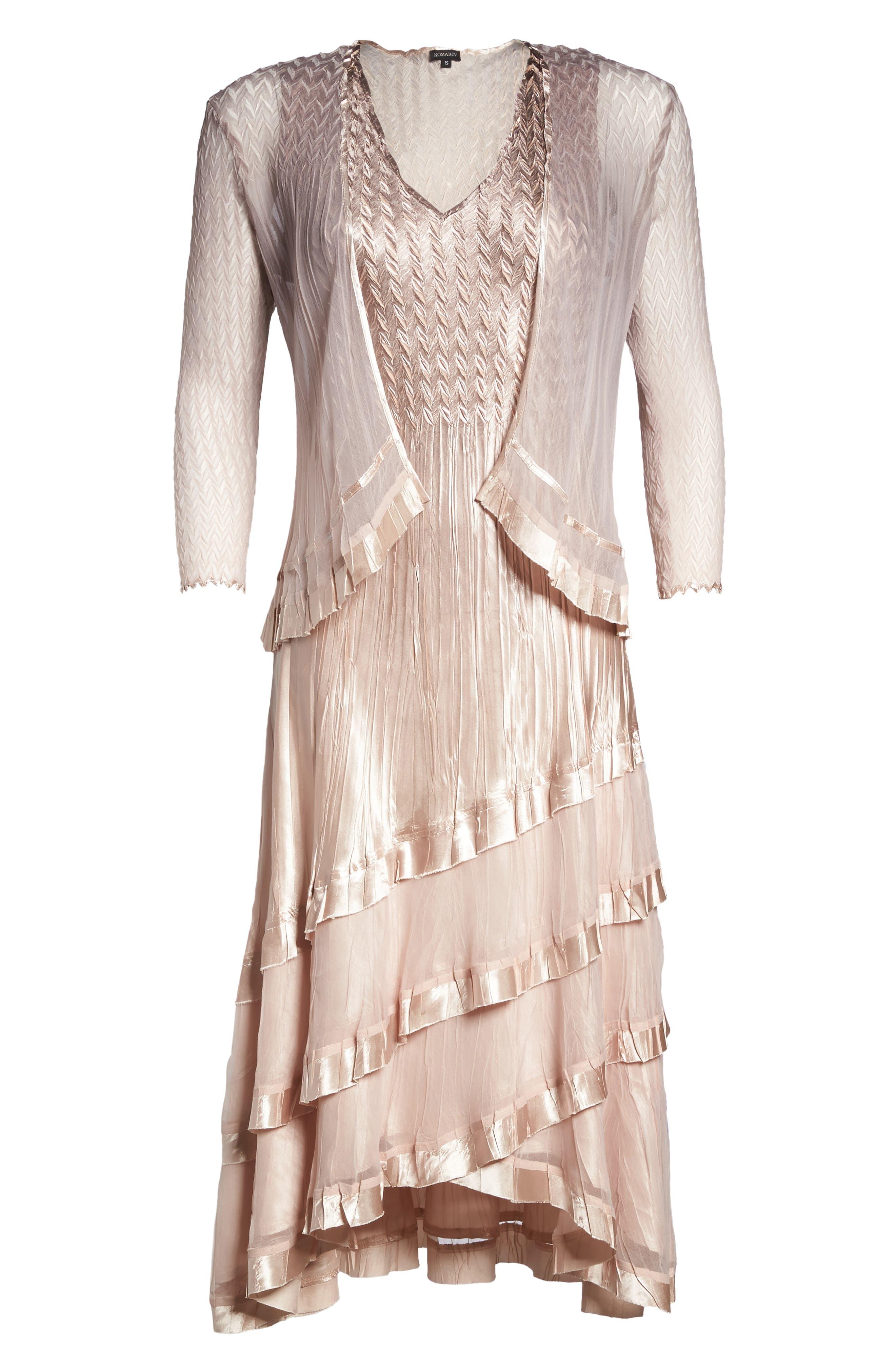 Alternate Image 5  - Komarov Tiered Dress with Jacket (Regular & Petite)