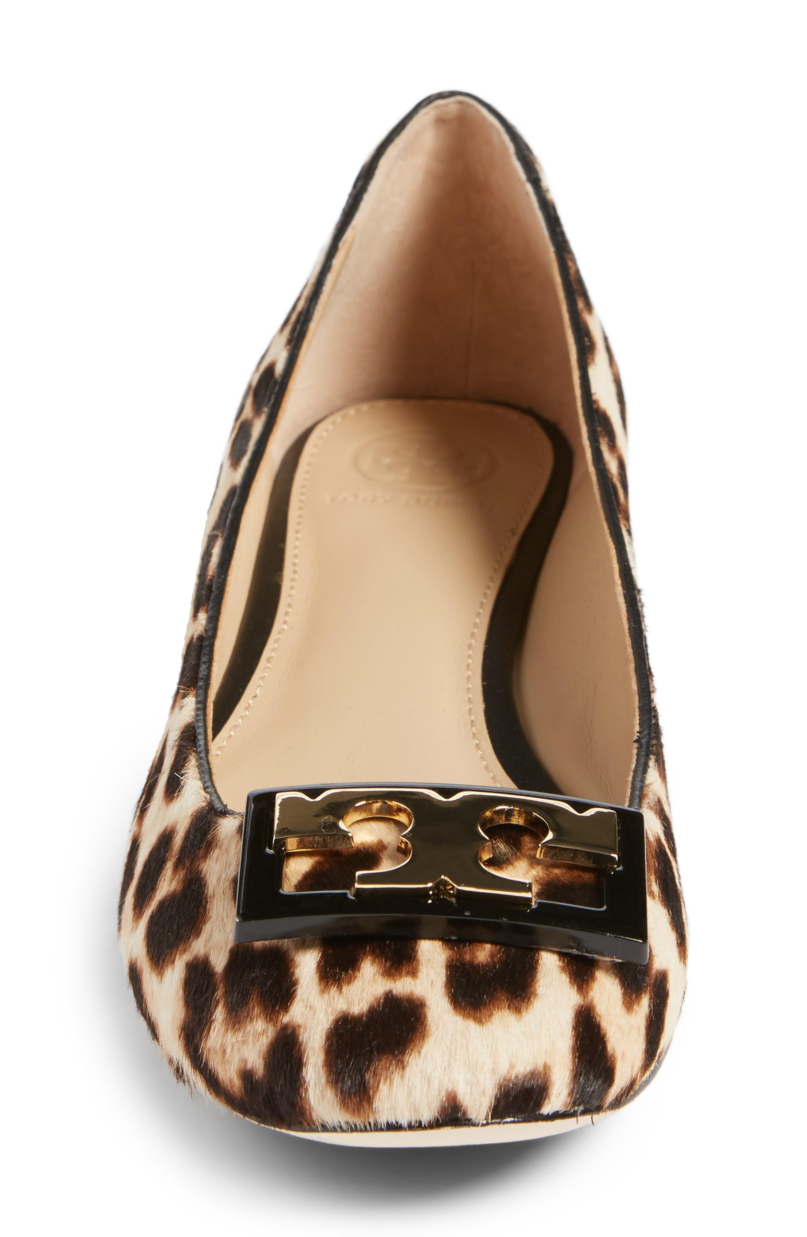 Gigi Block Heel Pump,                             Alternate thumbnail 4, color,                             Natural Leopard