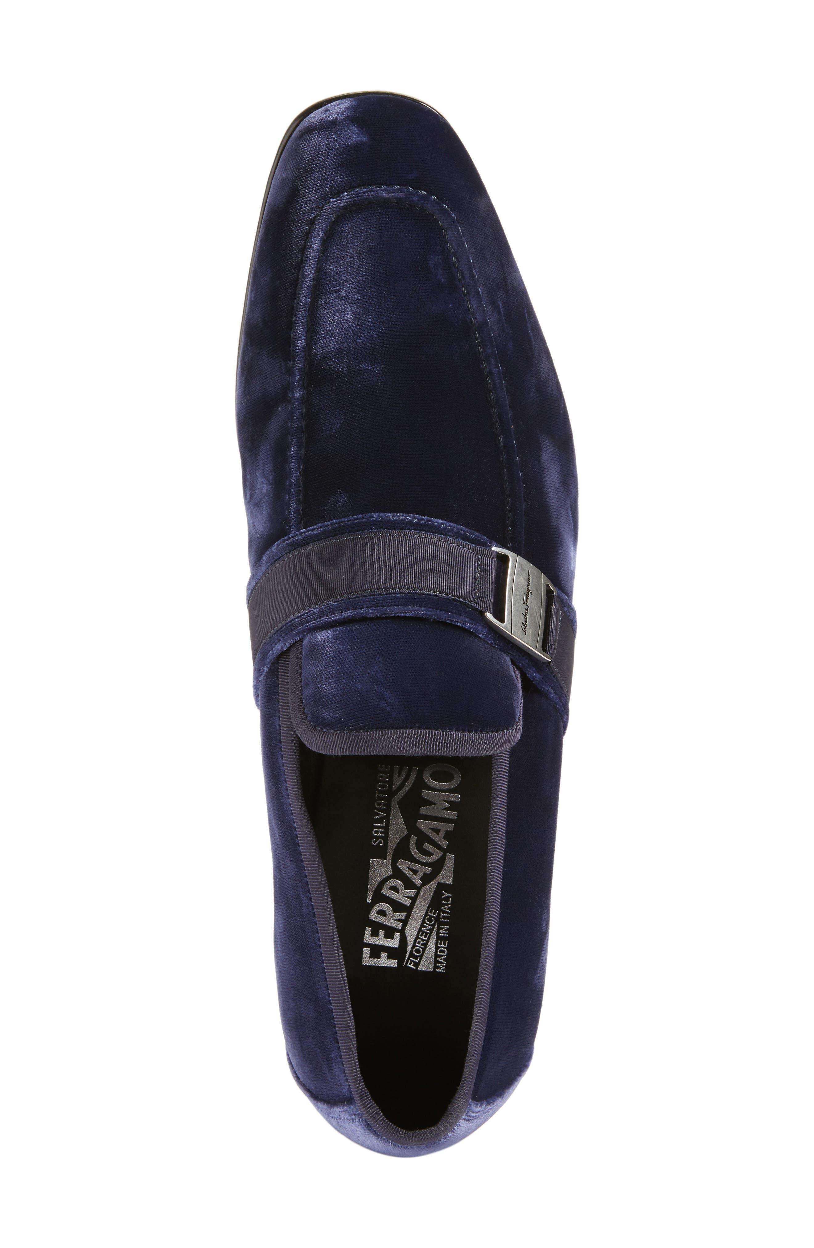 Danny 2 Bit Loafer,                             Alternate thumbnail 5, color,                             Blue Marine Velvet
