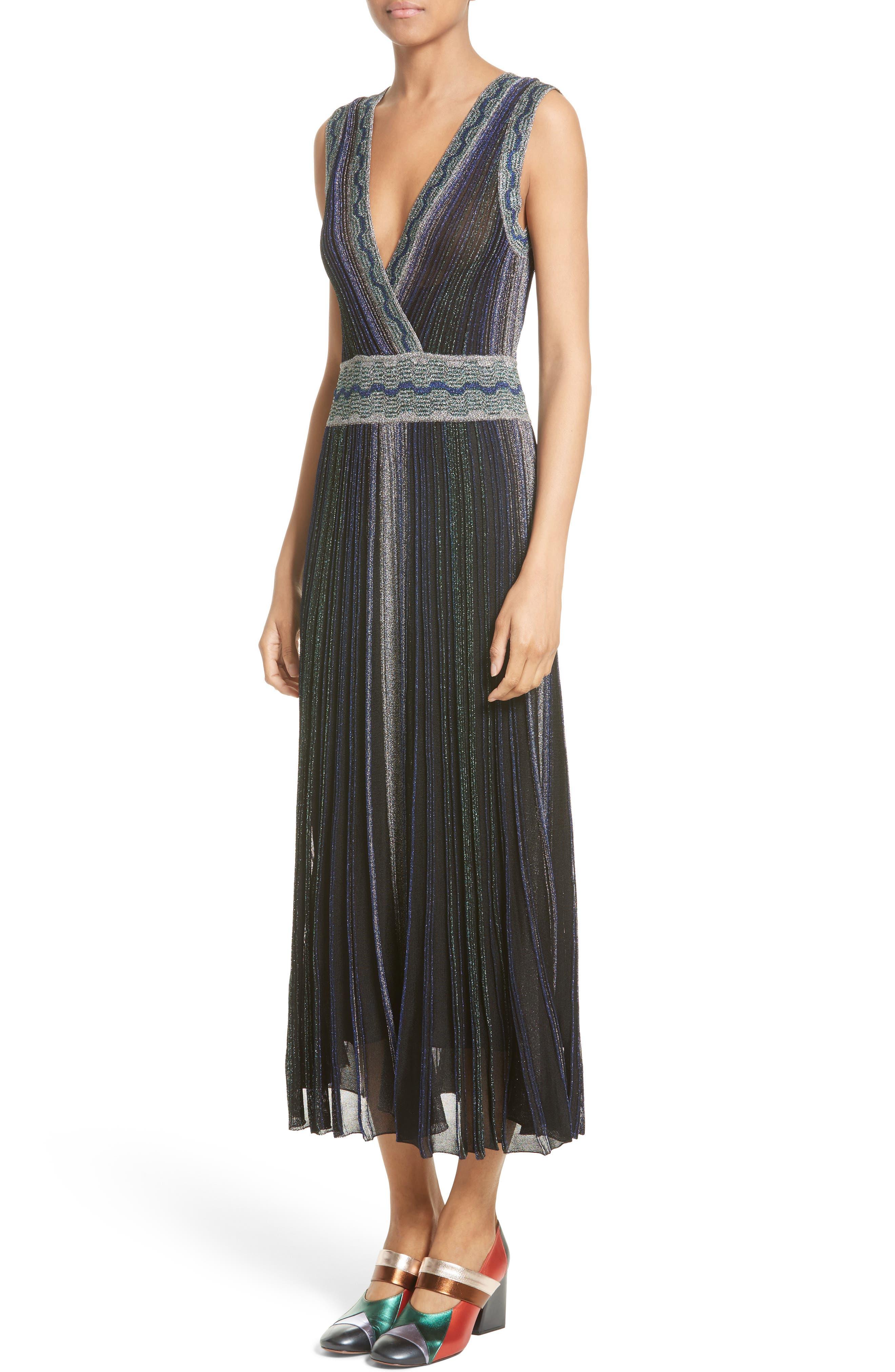 Alternate Image 2  - Missoni Reversible Metallic Rib Knit Dress
