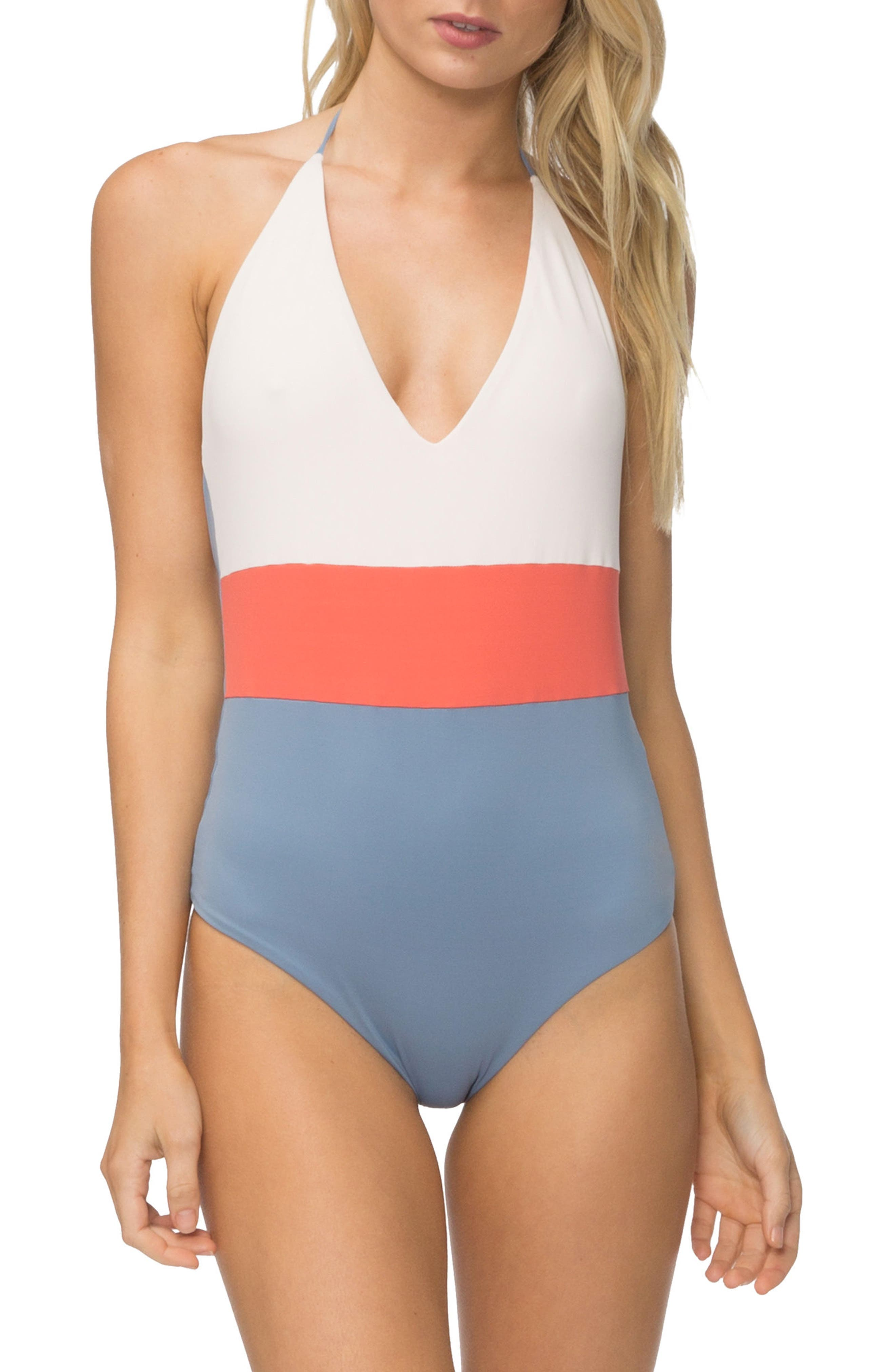 Chase One-Piece Swimsuit,                         Main,                         color, Pink Colorblock