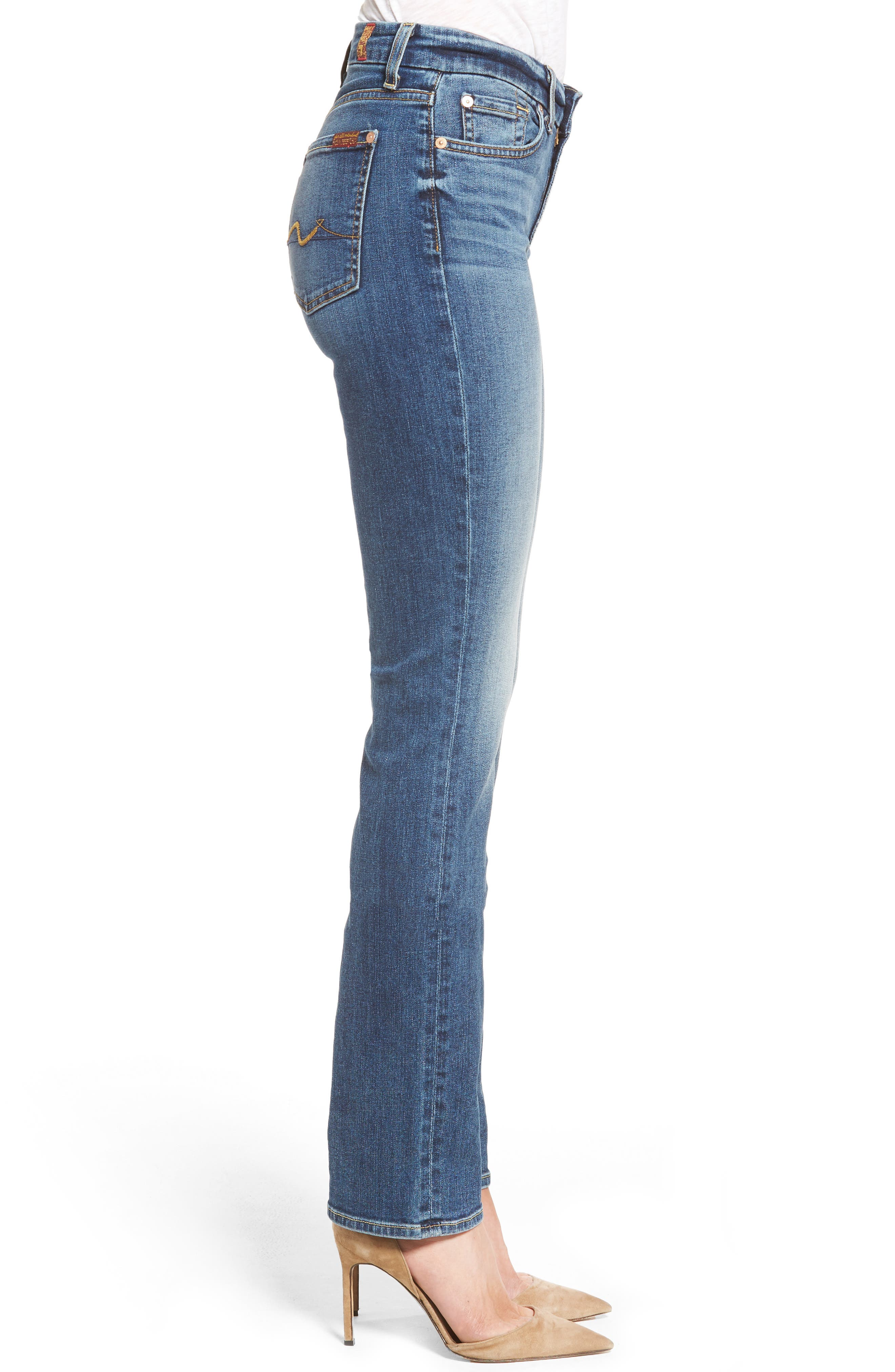 Alternate Image 3  - 7 For All Mankind® 'Kimmie' Straight Leg Jeans (Seratoga Bay)