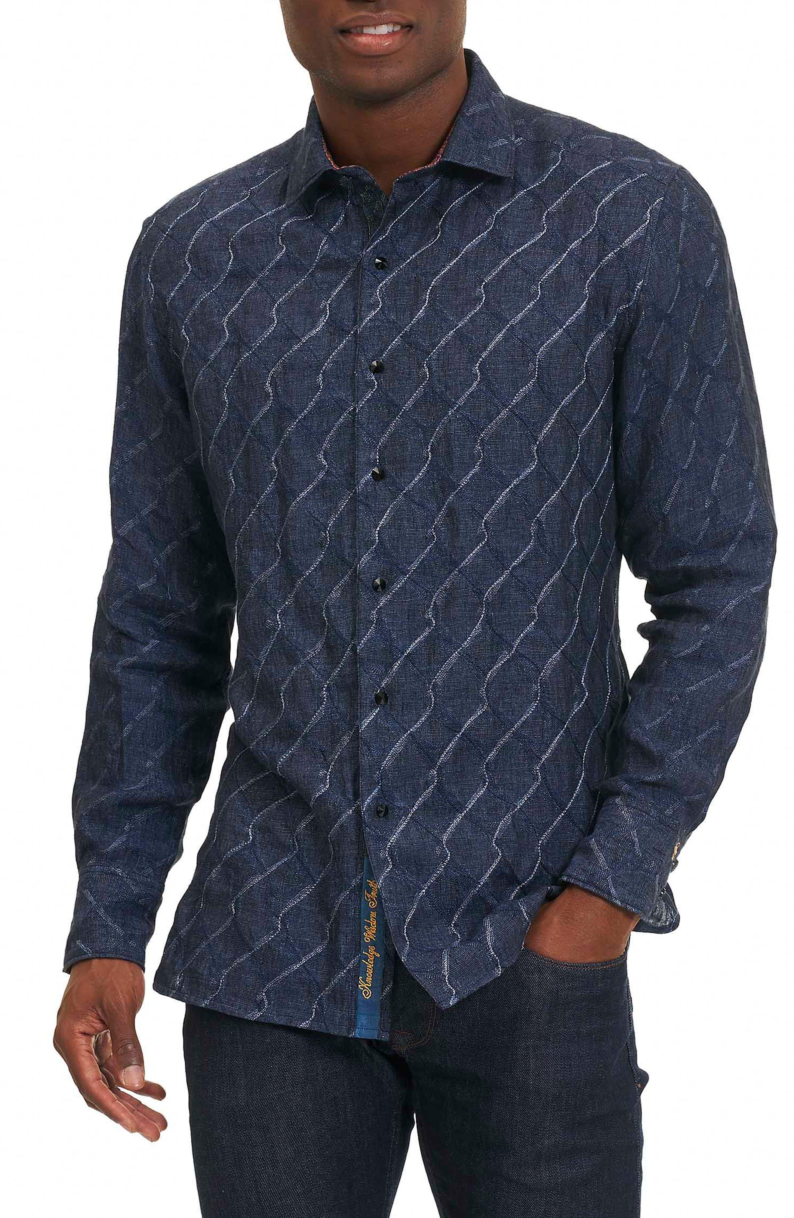 Siddhartha Classic Fit Sport Shirt,                         Main,                         color, Navy
