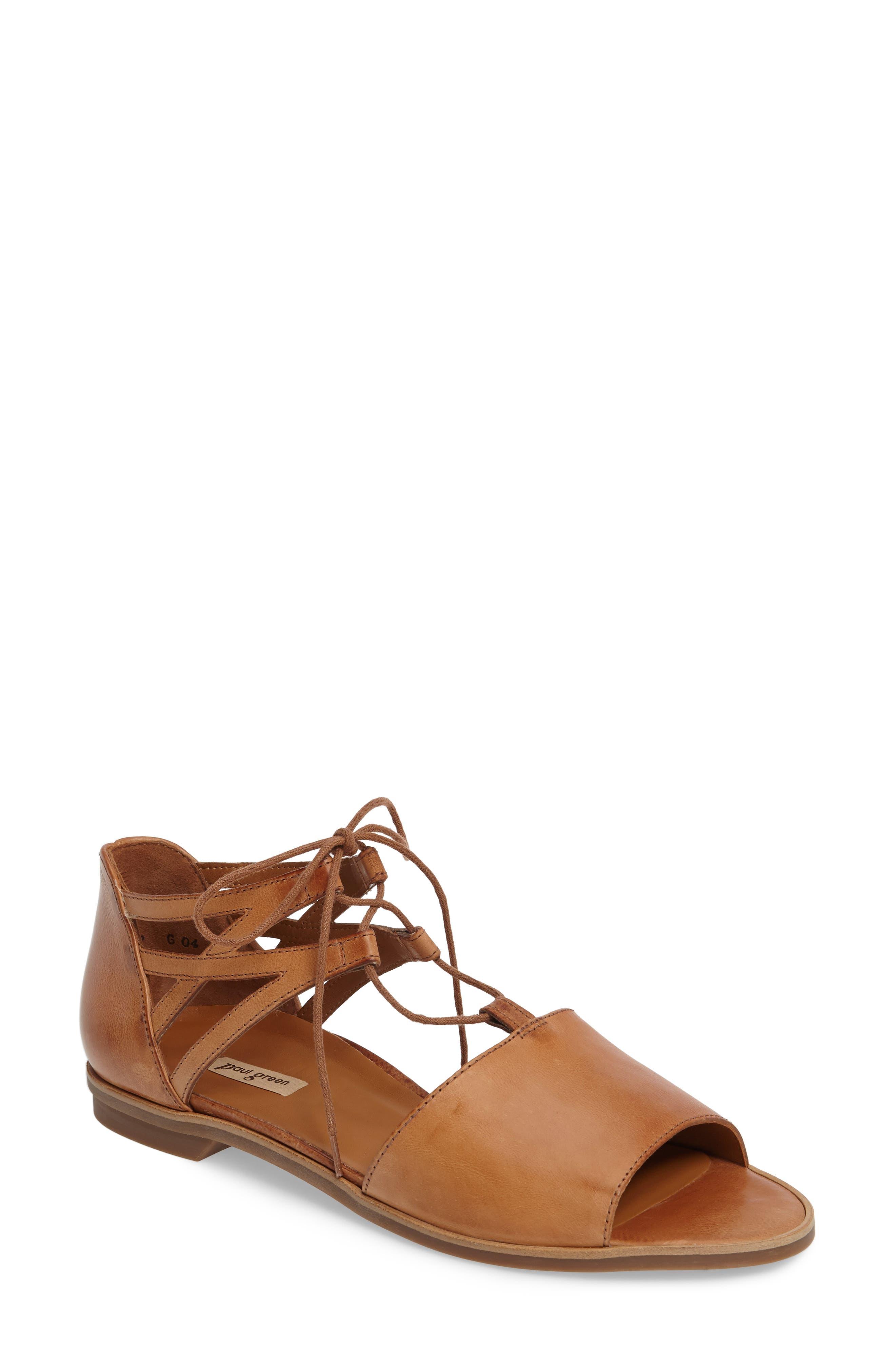 Alternate Image 1 Selected - Paul Green Morea Lace-Up Sandal (Women)