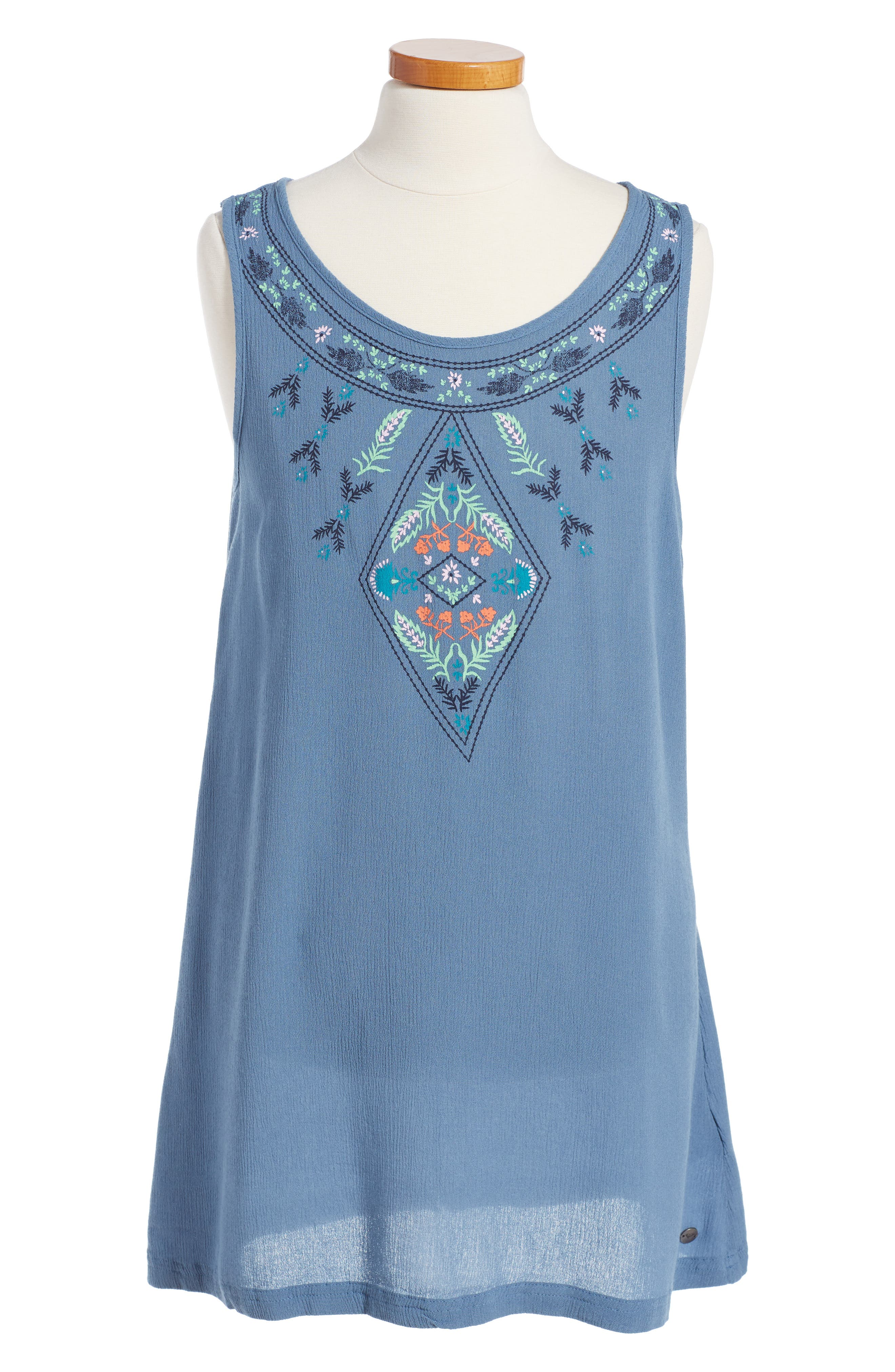 Main Image - Roxy Everyone on a Run Embroidered Dress (Big Girls)