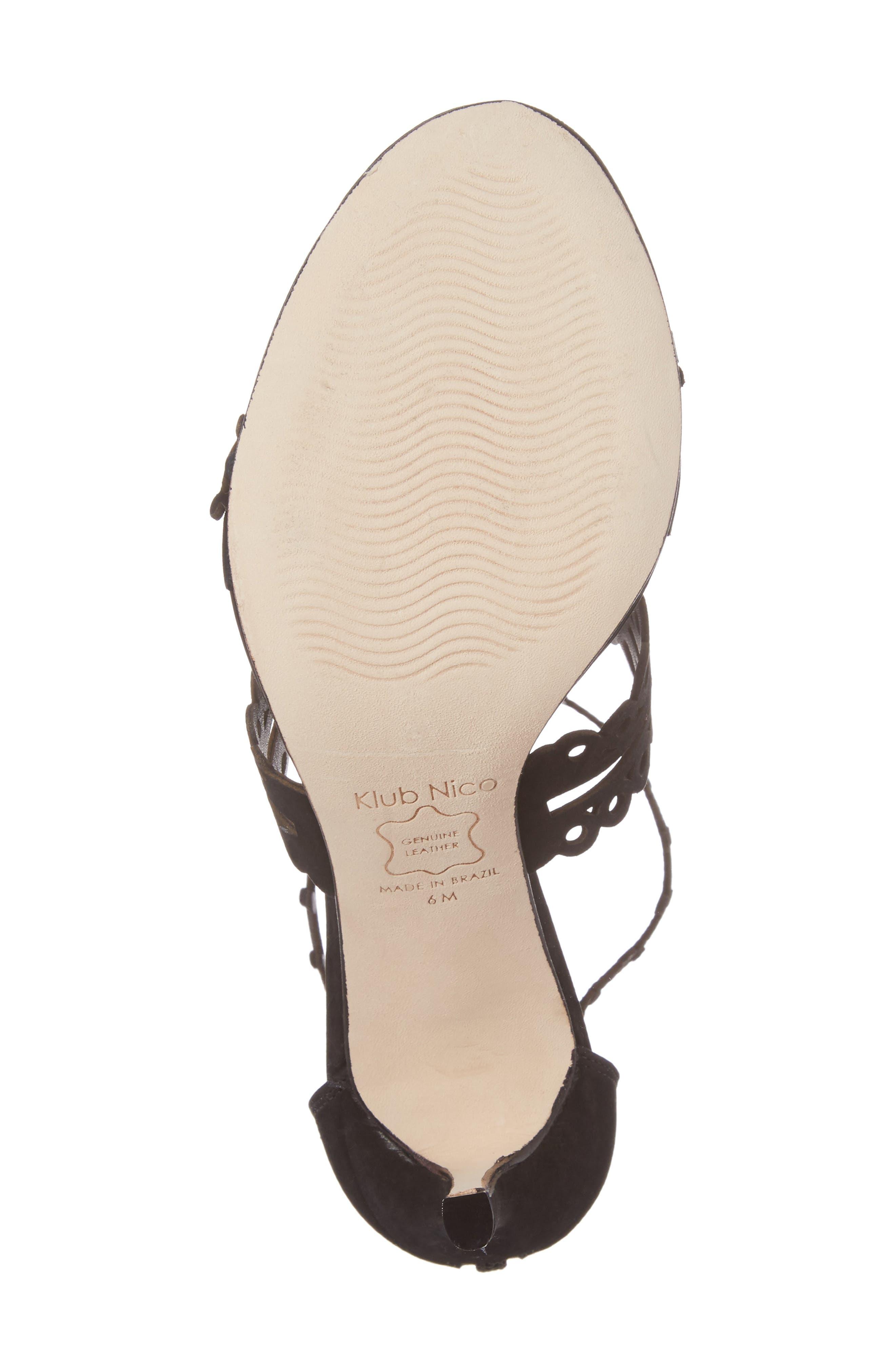 Alternate Image 6  - Klub Nico 'Antonia' Laser Cut T-Strap Sandal (Women)