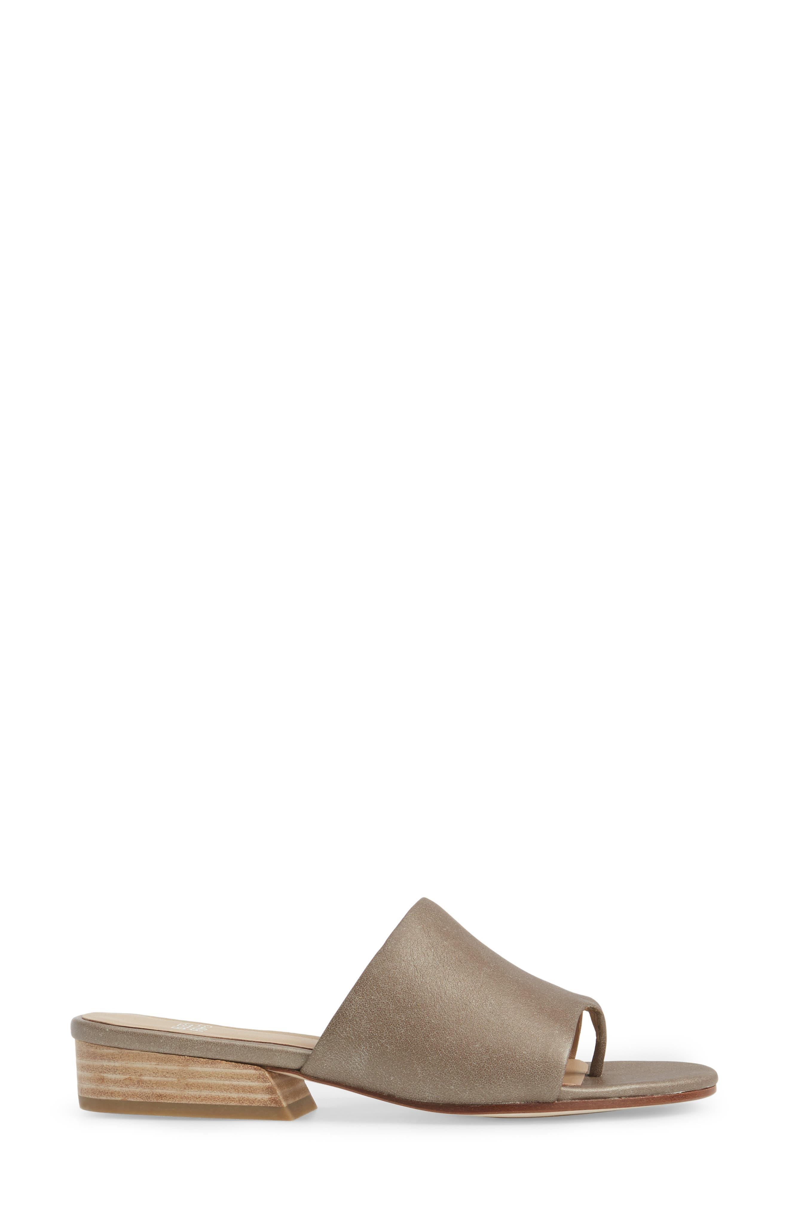 Beal Slide Sandal,                             Alternate thumbnail 3, color,                             Pyrite Leather