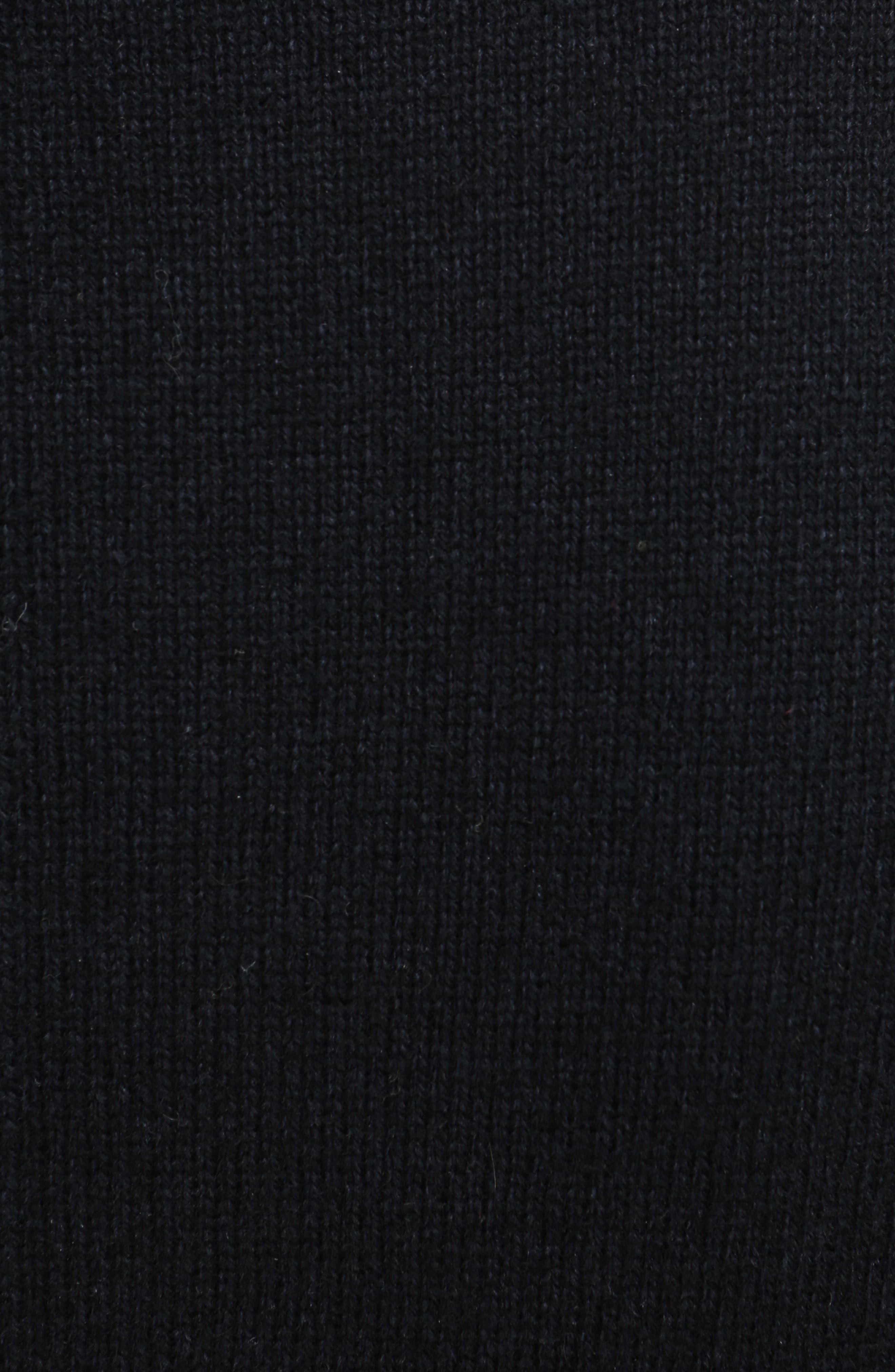 Imitation Pearl Inset Wool Blend Sweater,                             Alternate thumbnail 3, color,                             Black