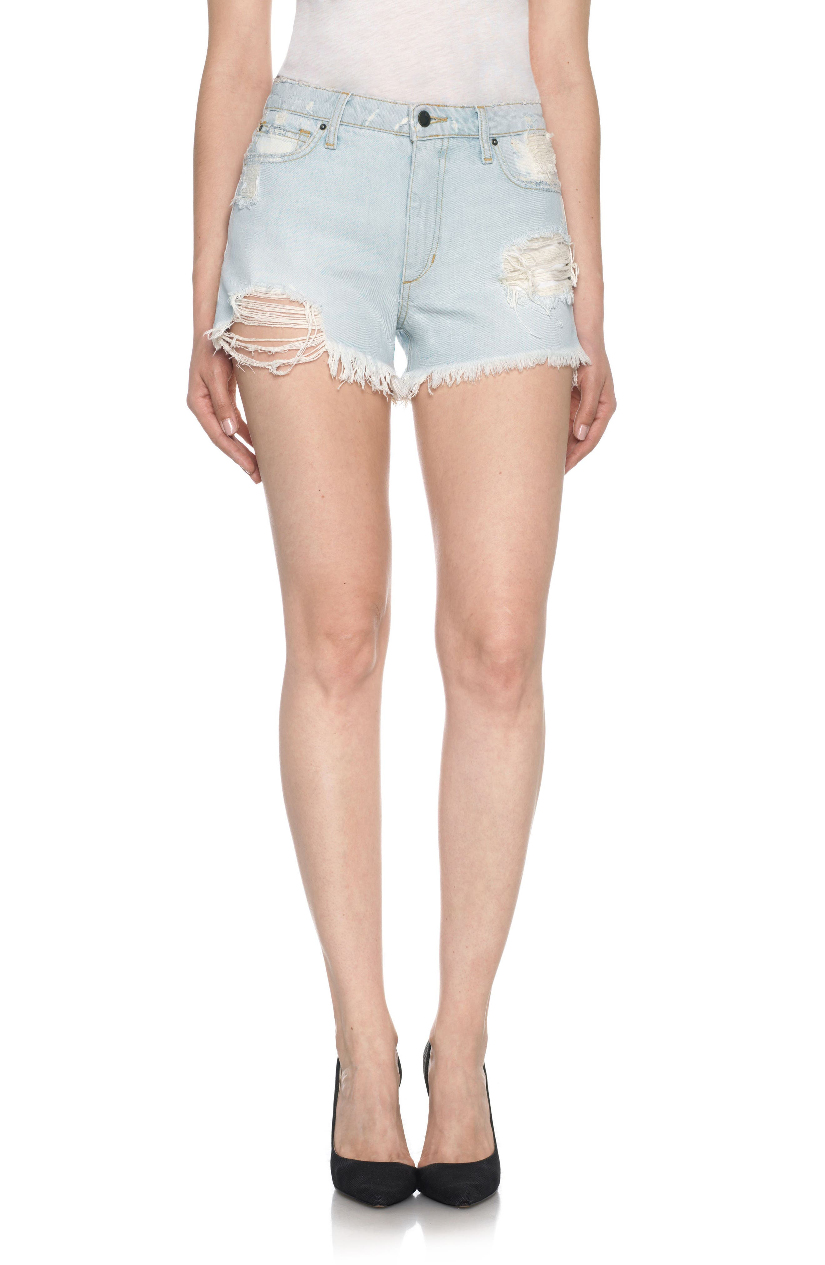 Alternate Image 1 Selected - Joe's Collector's - Charlie High Rise Cutoff Denim Shorts (Elkie)