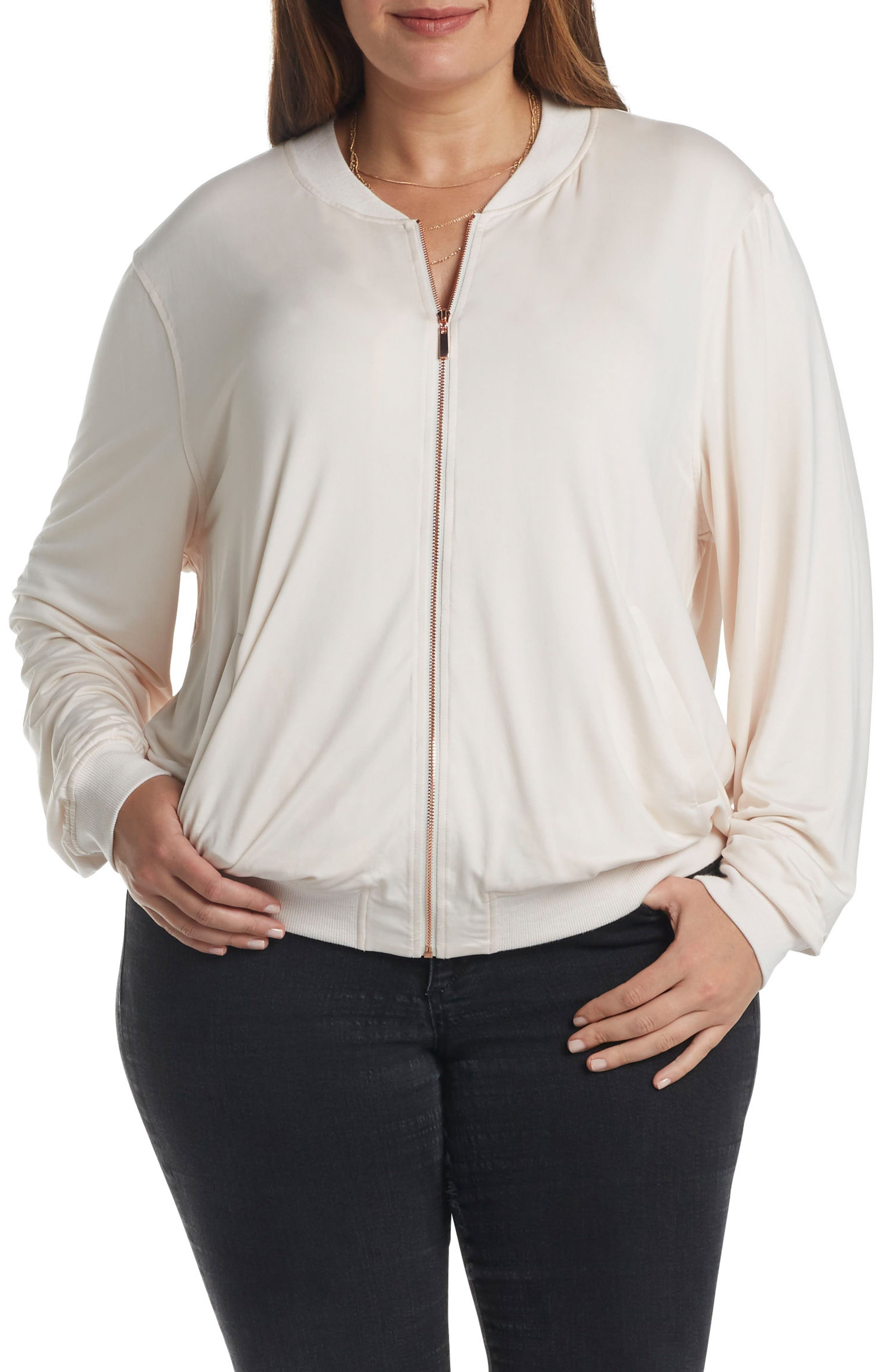 Main Image - Tart Hollice Bomber Jacket (Plus Size)