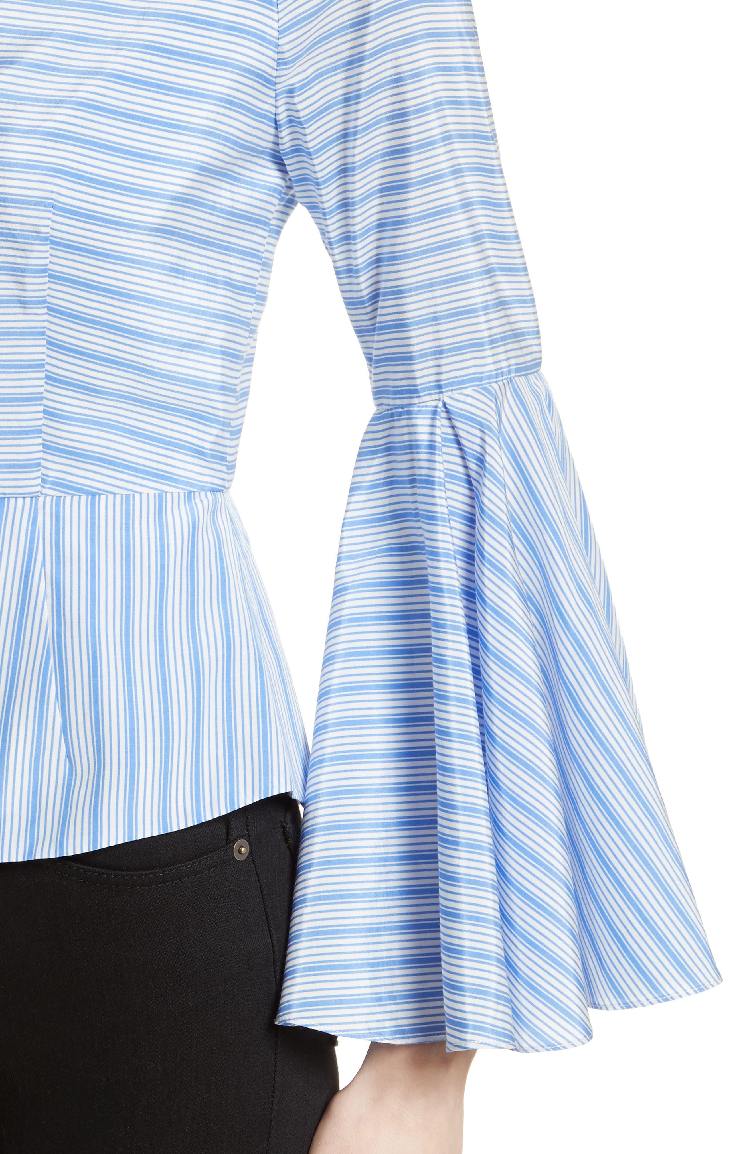 Alternate Image 4  - Milly Tie Back Stripe Peplum Top