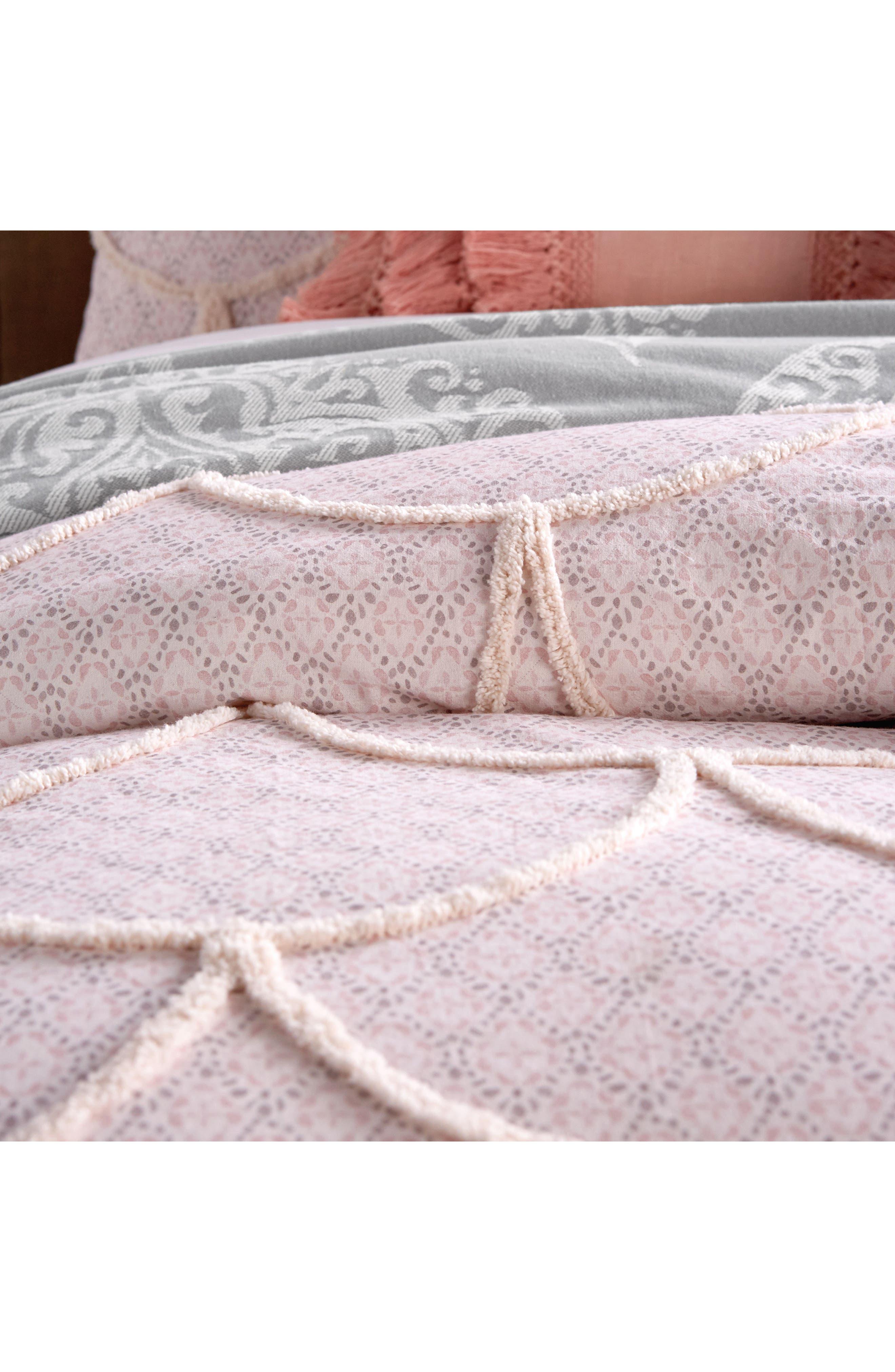Chenille Scallop Comforter & Sham Set,                             Alternate thumbnail 2, color,                             Blush