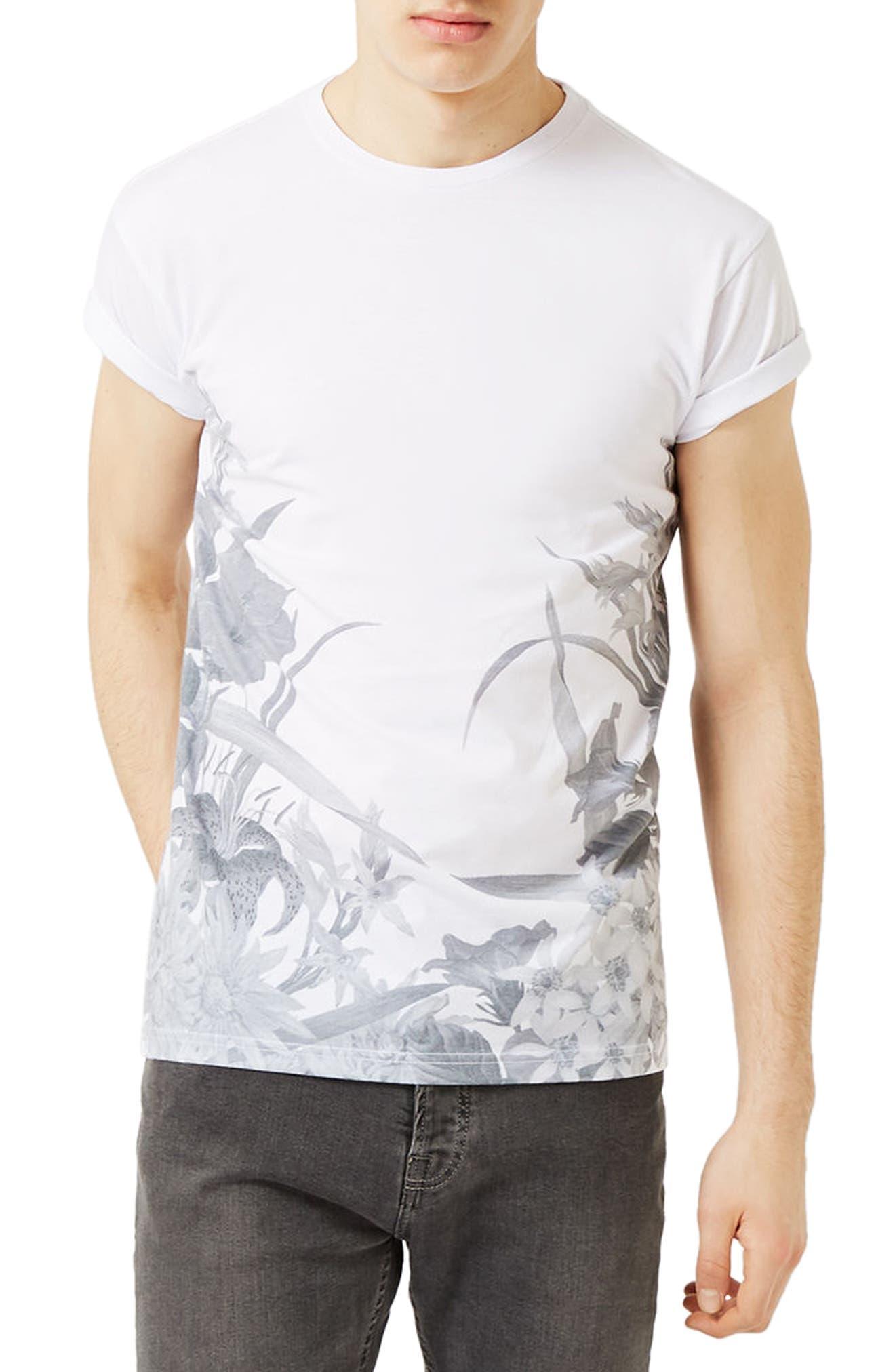 TOPMAN Floral Print T-Shirt