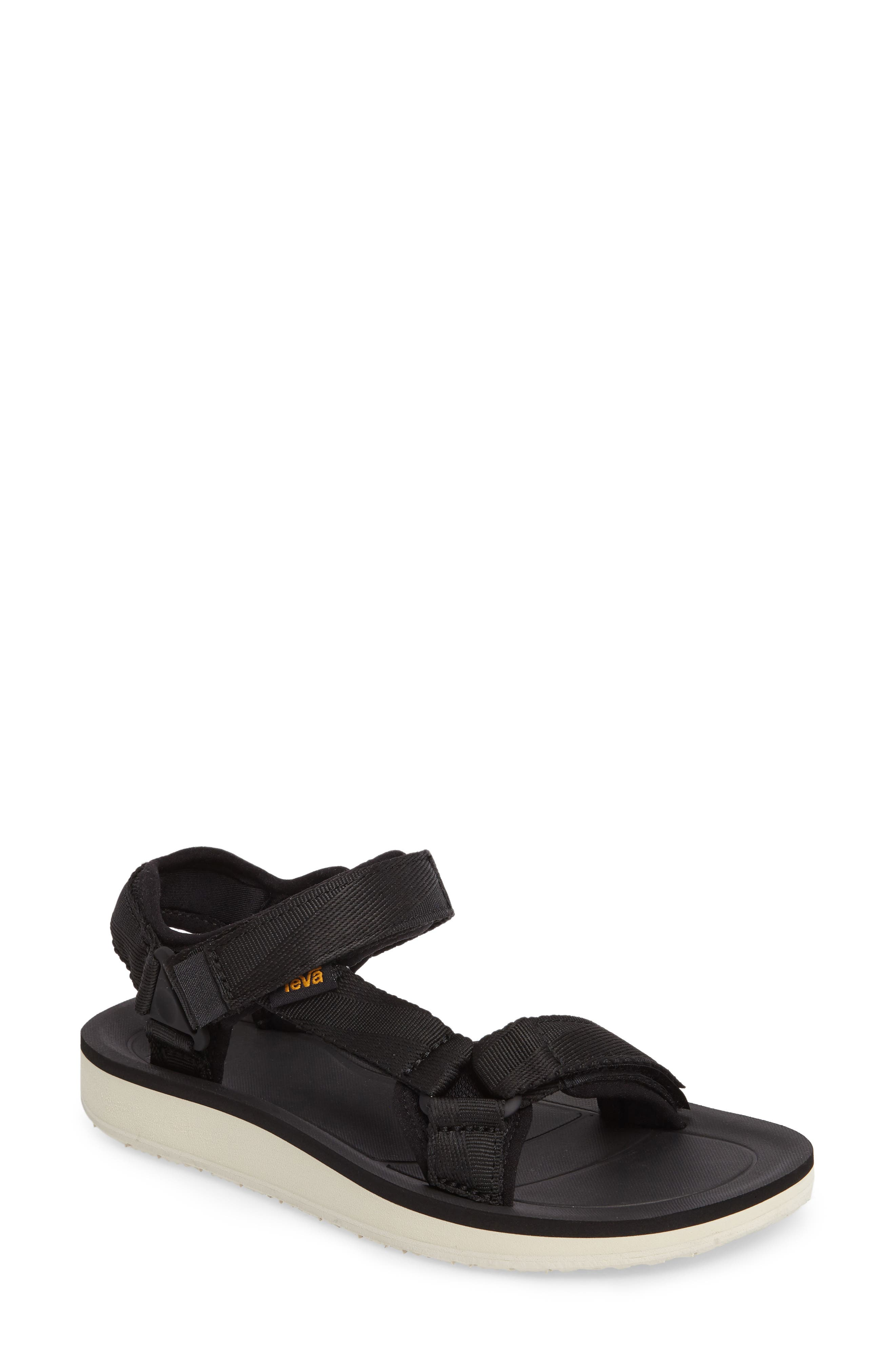 Original Universal Premier Sandal,                             Main thumbnail 1, color,                             Black Fabric