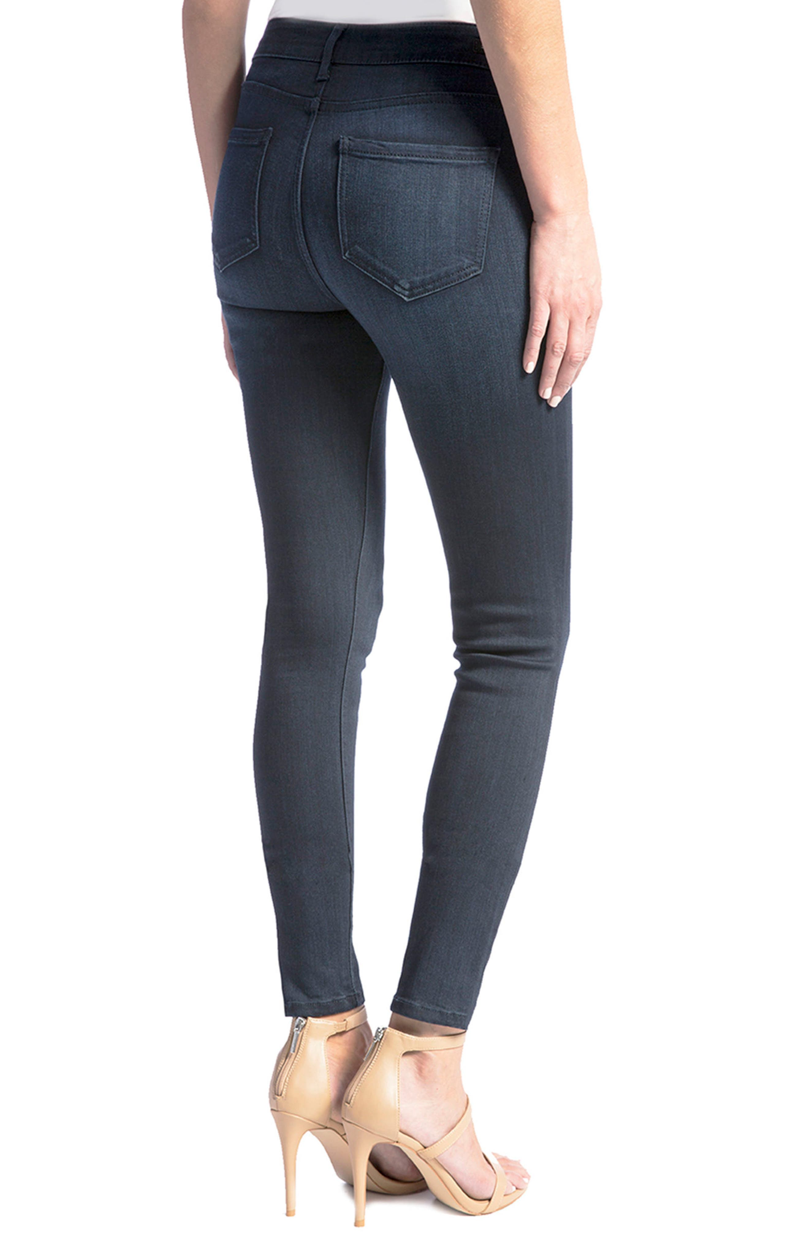 Jeans Co. Abby Stretch Skinny Jeans,                             Alternate thumbnail 2, color,                             Stone Wash