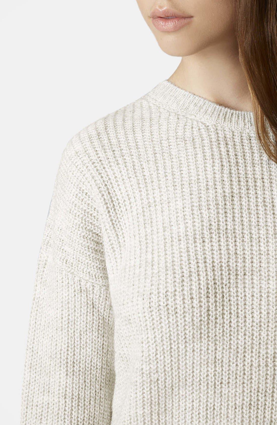 Alternate Image 3  - Topshop 'Lofty' Ribbed Sweater