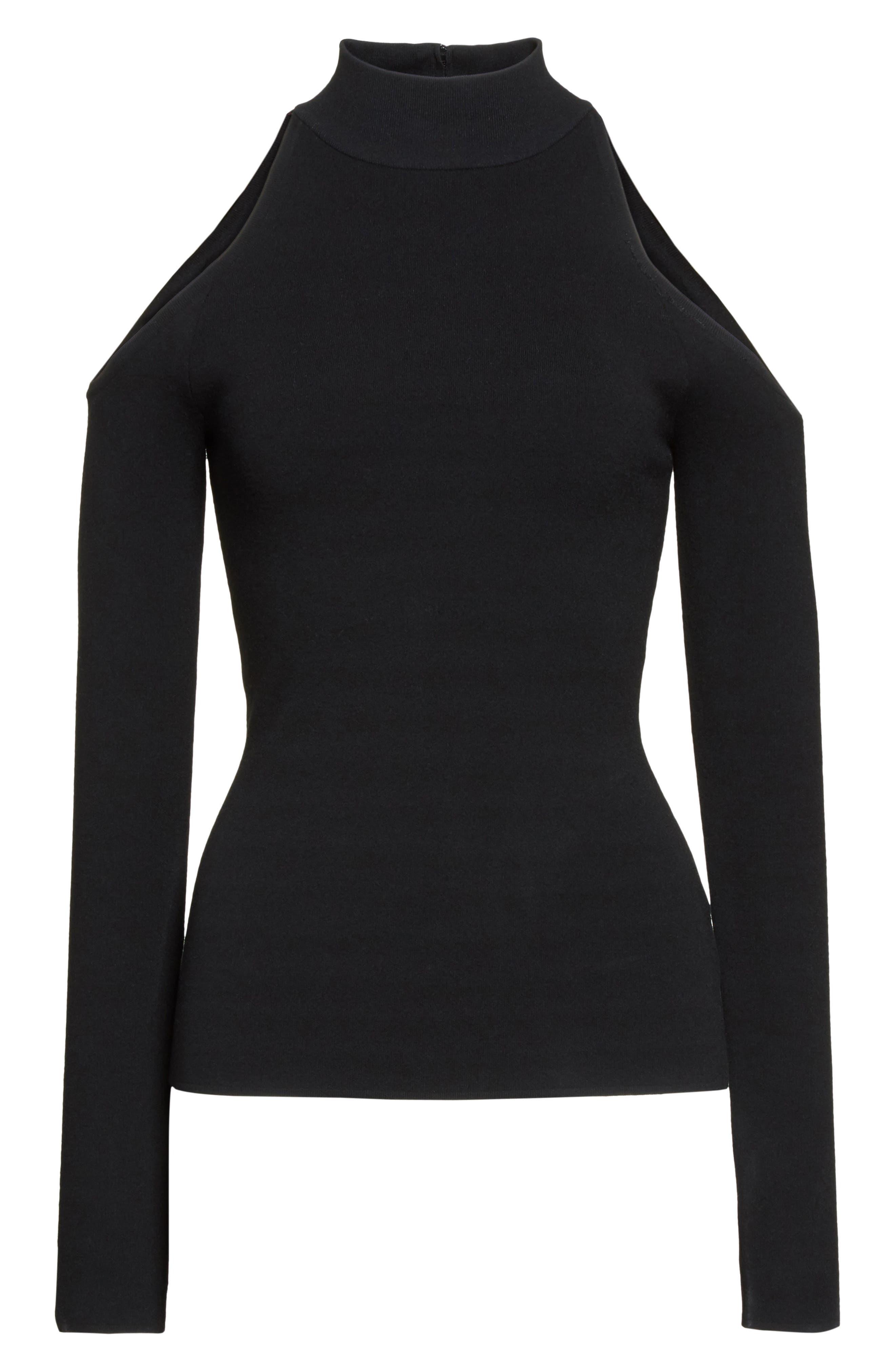 Alternate Image 4  - Michael Kors Cold Shoulder Stretch Knit Top