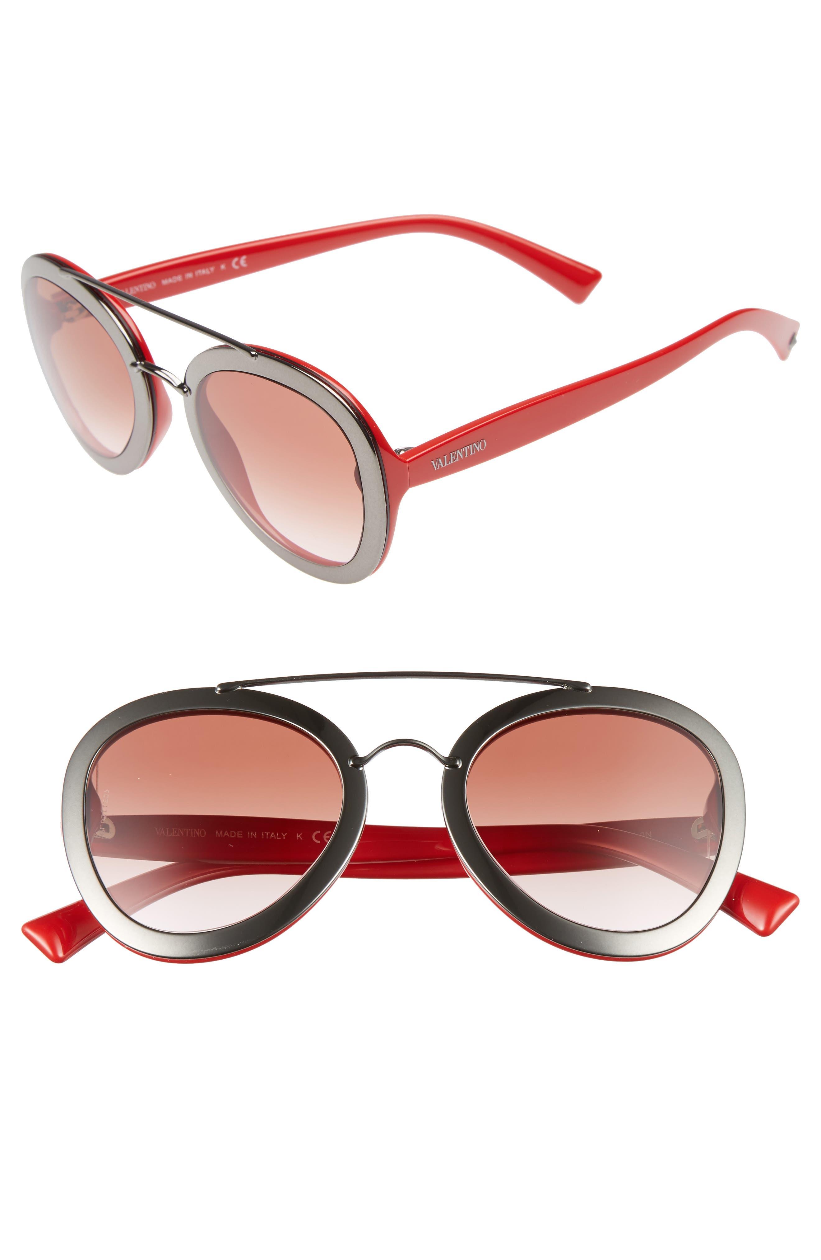 VALENTINO GARAVANI Valentino 58mm Round Sunglasses