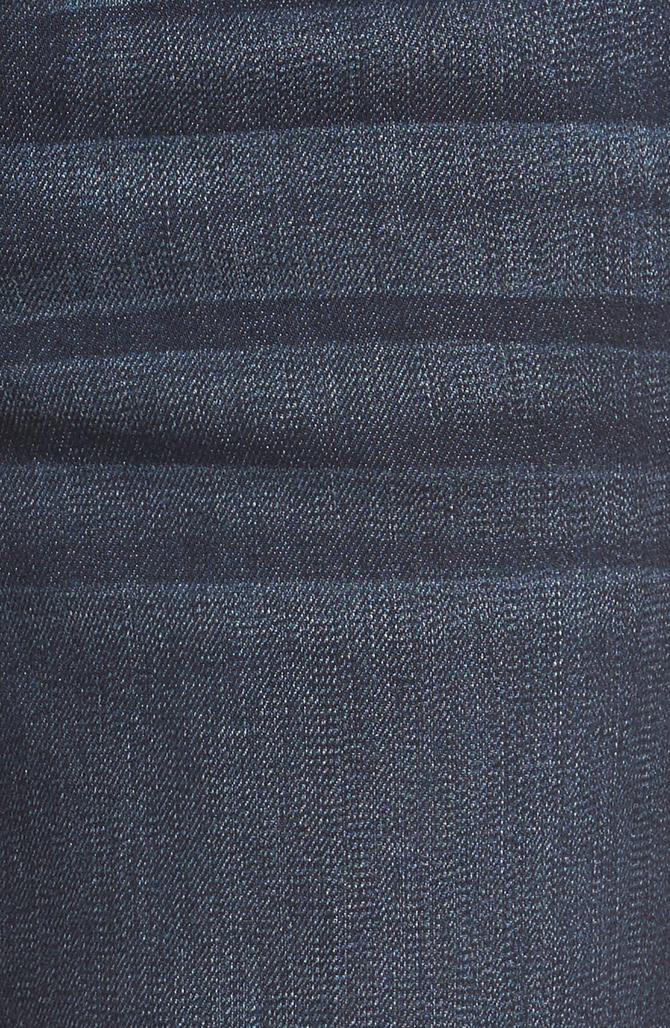 Ab-solution Cuffed Denim Shorts,                             Alternate thumbnail 5, color,                             Indigo