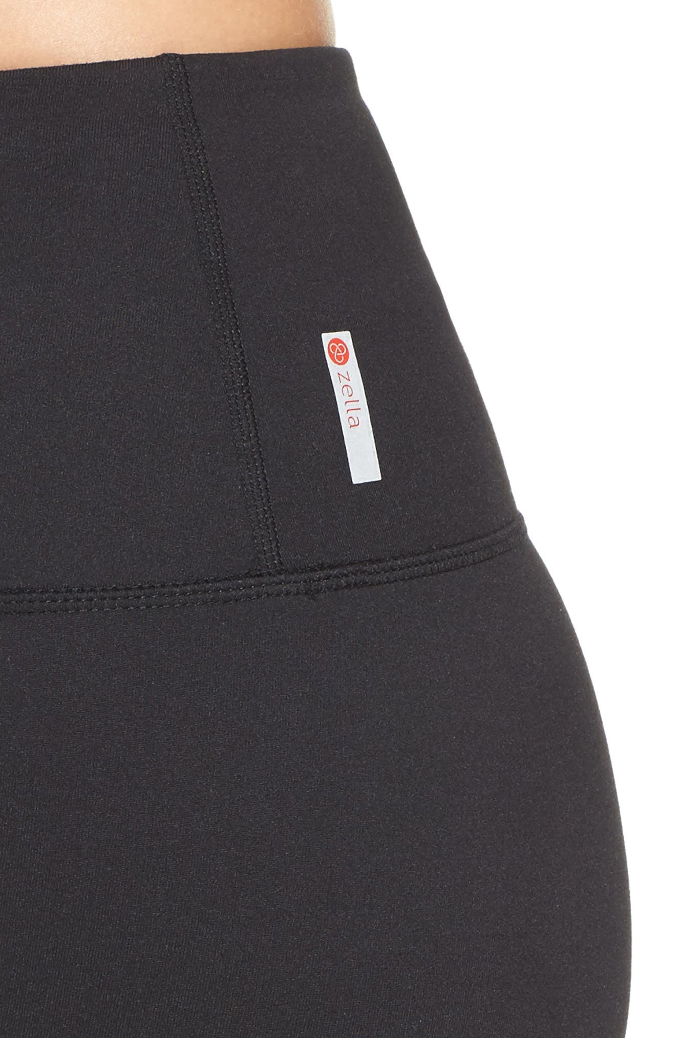 Mia High Waist Mesh Bike Shorts,                             Alternate thumbnail 4, color,                             Black