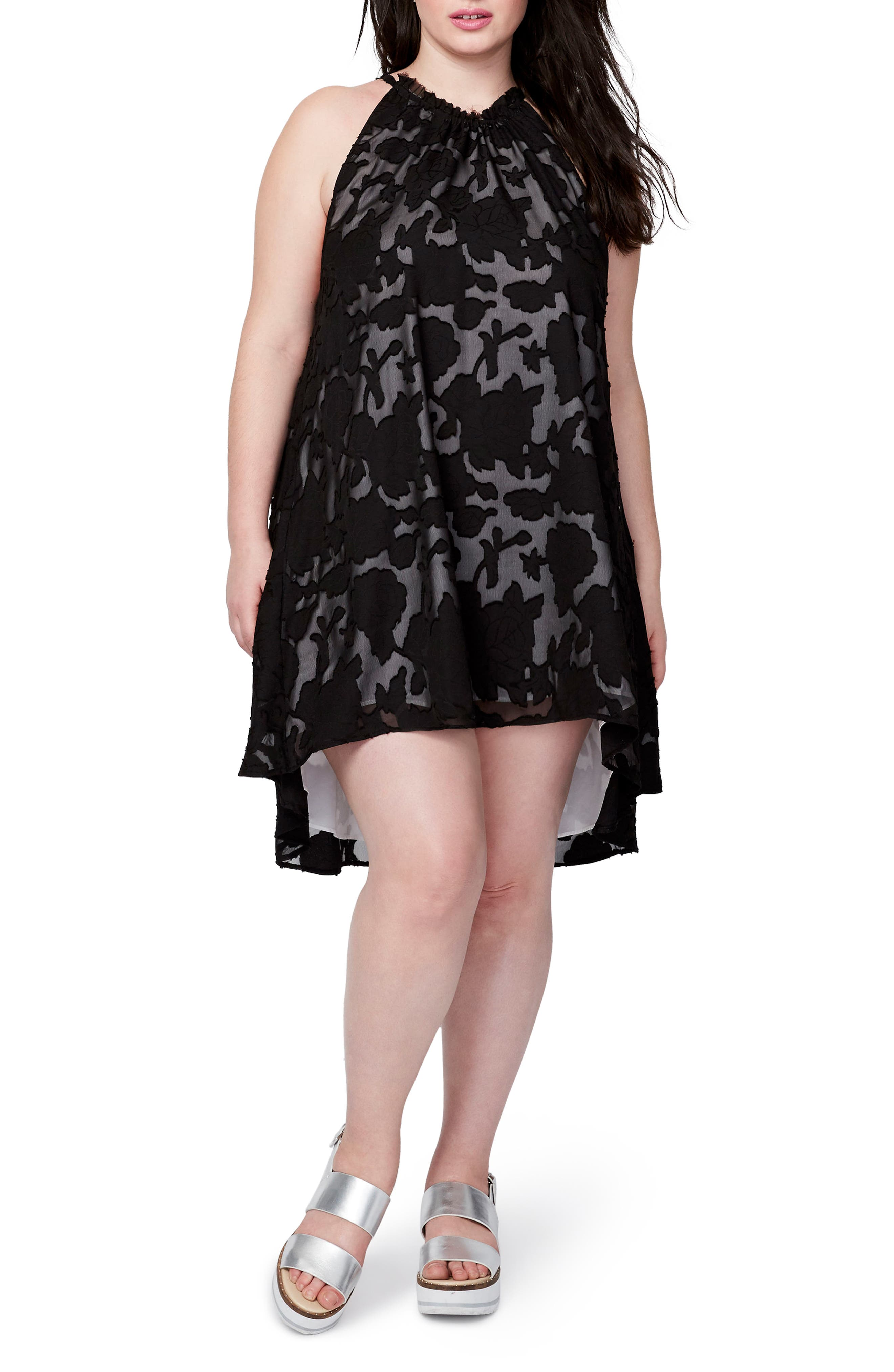 RACHEL Rachel Roy Jacqueline Burnout Swing Dress (Plus Size)
