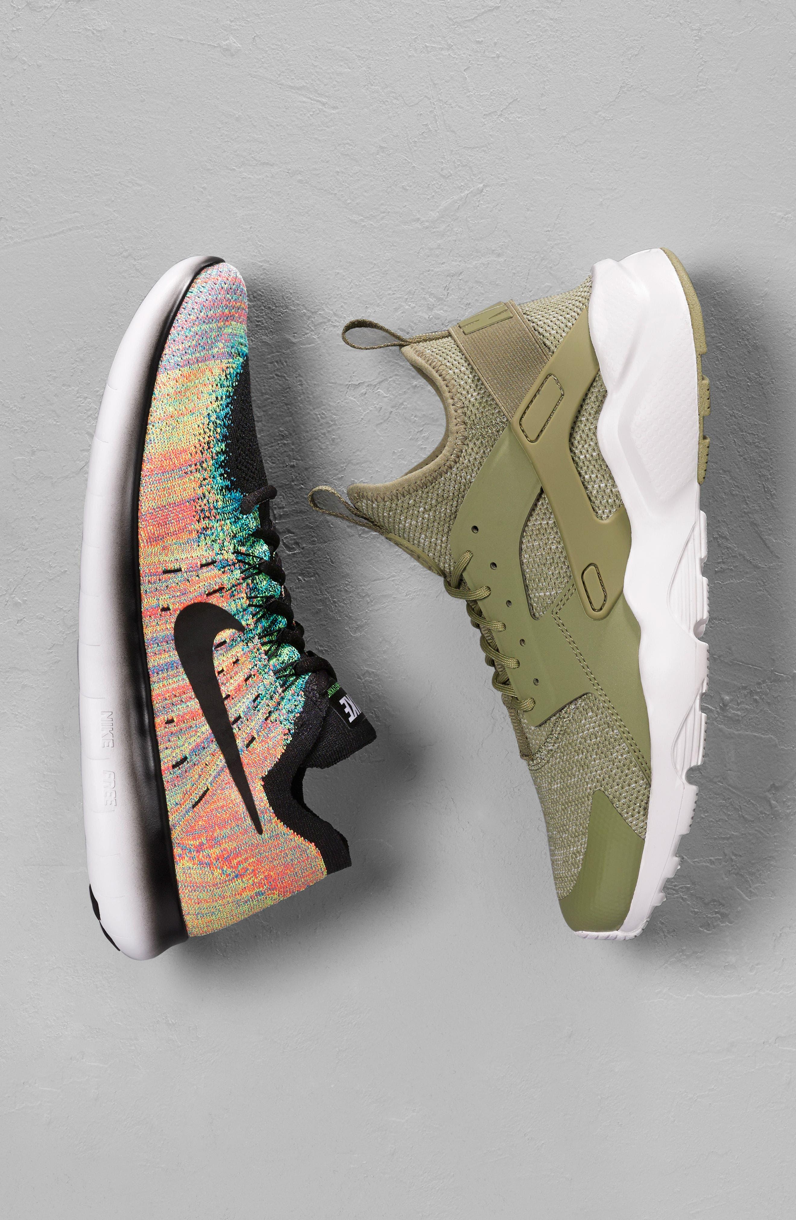 Free Run Flyknit 2017 Running Shoe,                             Alternate thumbnail 7, color,