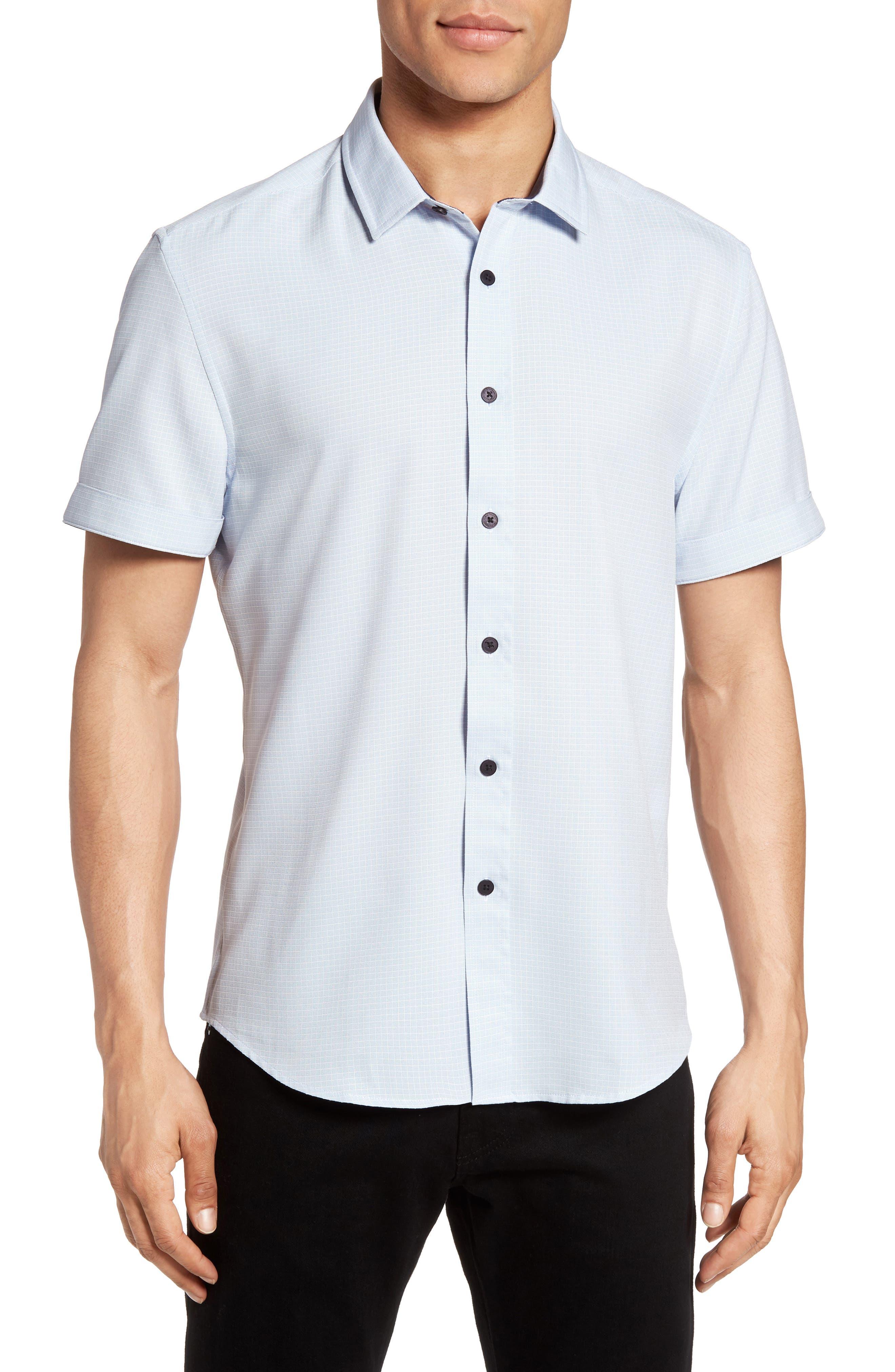 Check Sport Shirt,                         Main,                         color, White Check