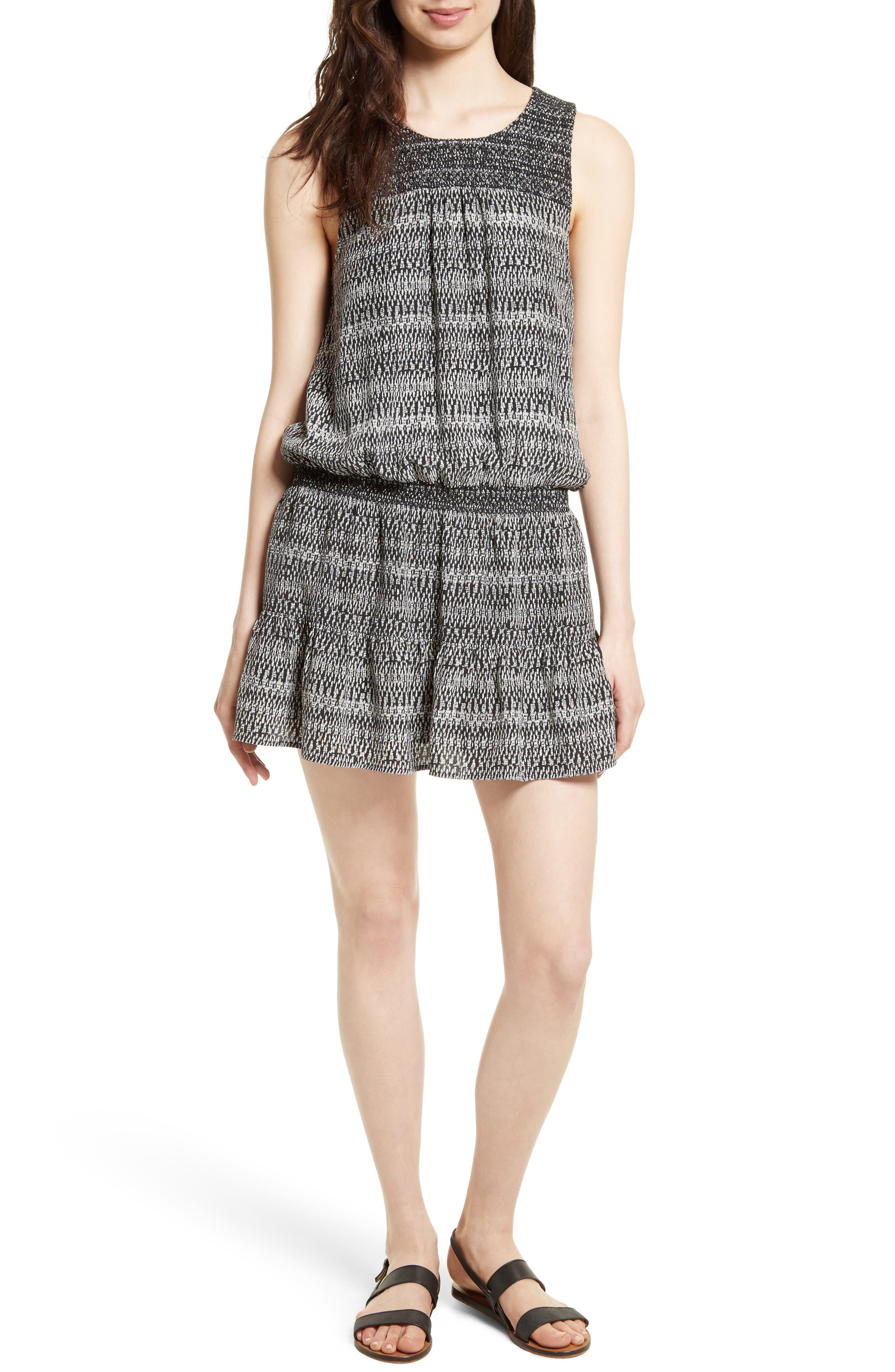 Joie Leilou Silk Blouson Dress