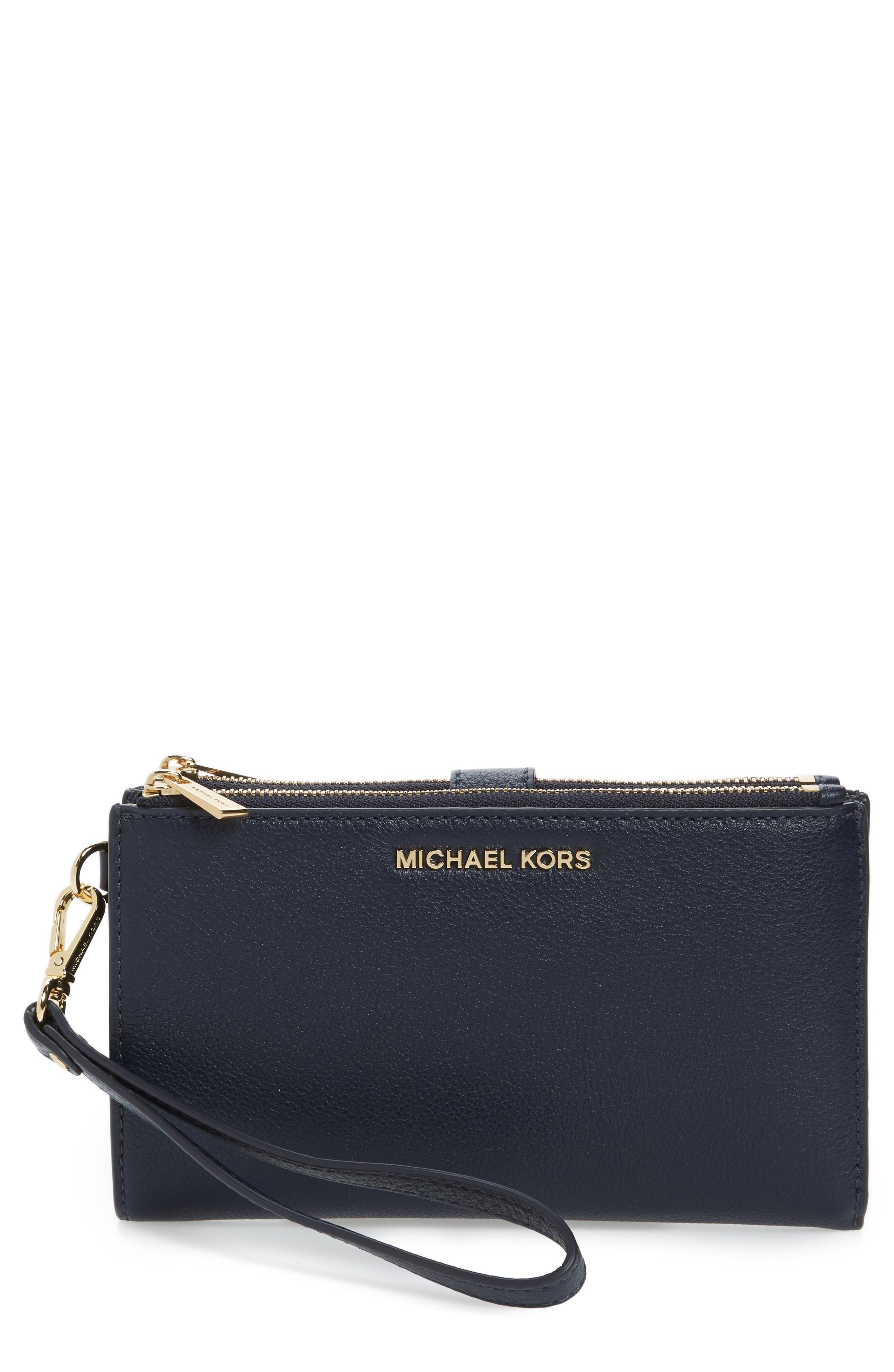 Alternate Image 1 Selected - MICHAEL Michael Kors Adele Leather Wristlet