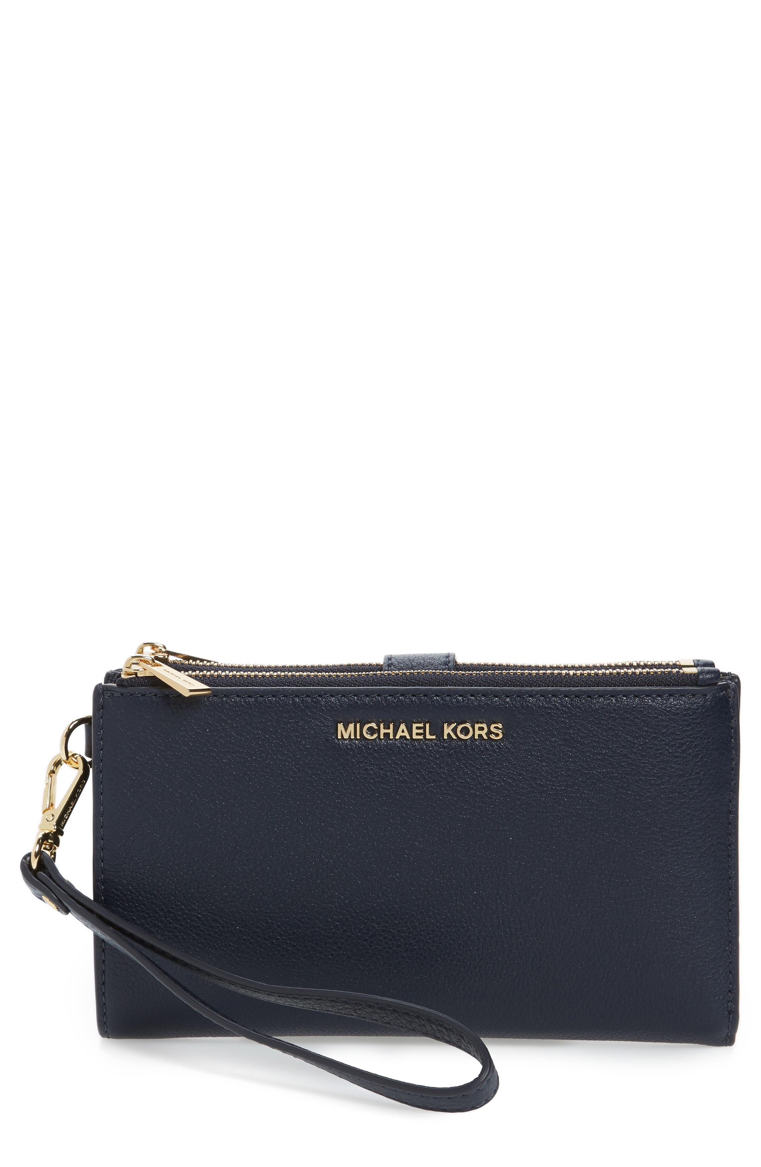 Main Image - MICHAEL Michael Kors Adele Leather Wristlet