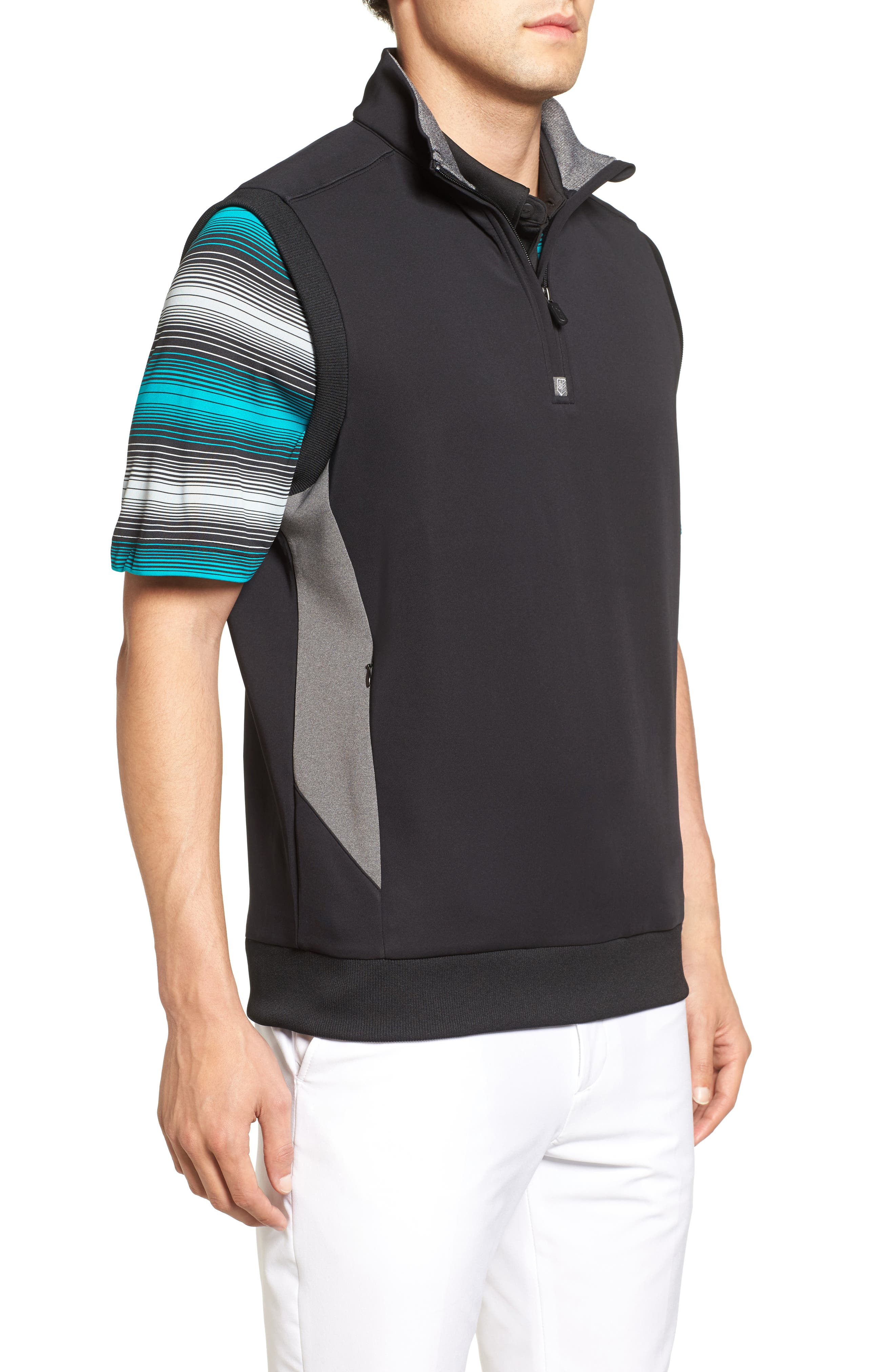 Alternate Image 3  - Bobby Jones Rule 18 Tech Quarter Zip Vest