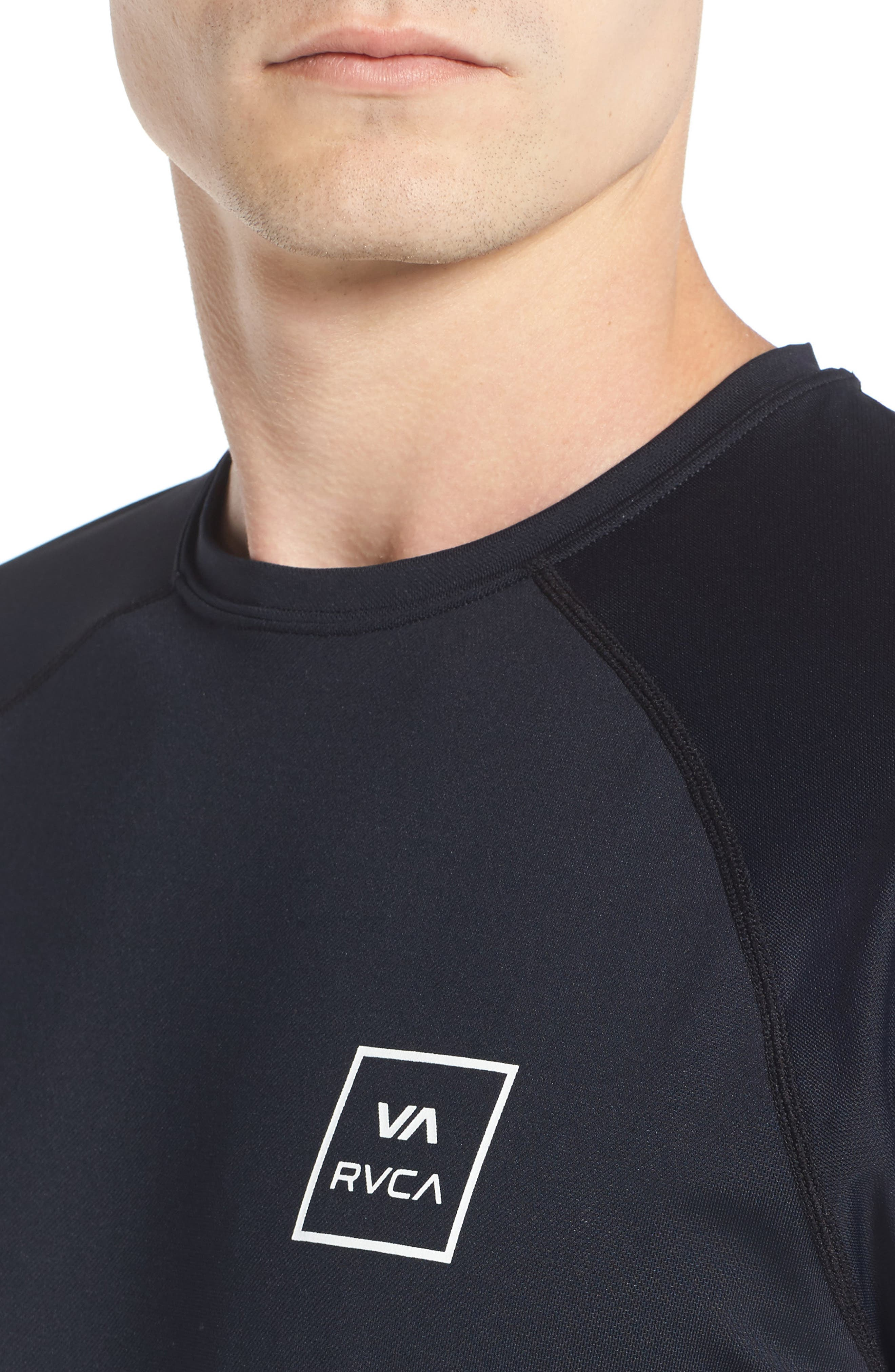 VA All the Way Surf T-Shirt,                             Alternate thumbnail 4, color,                             Black