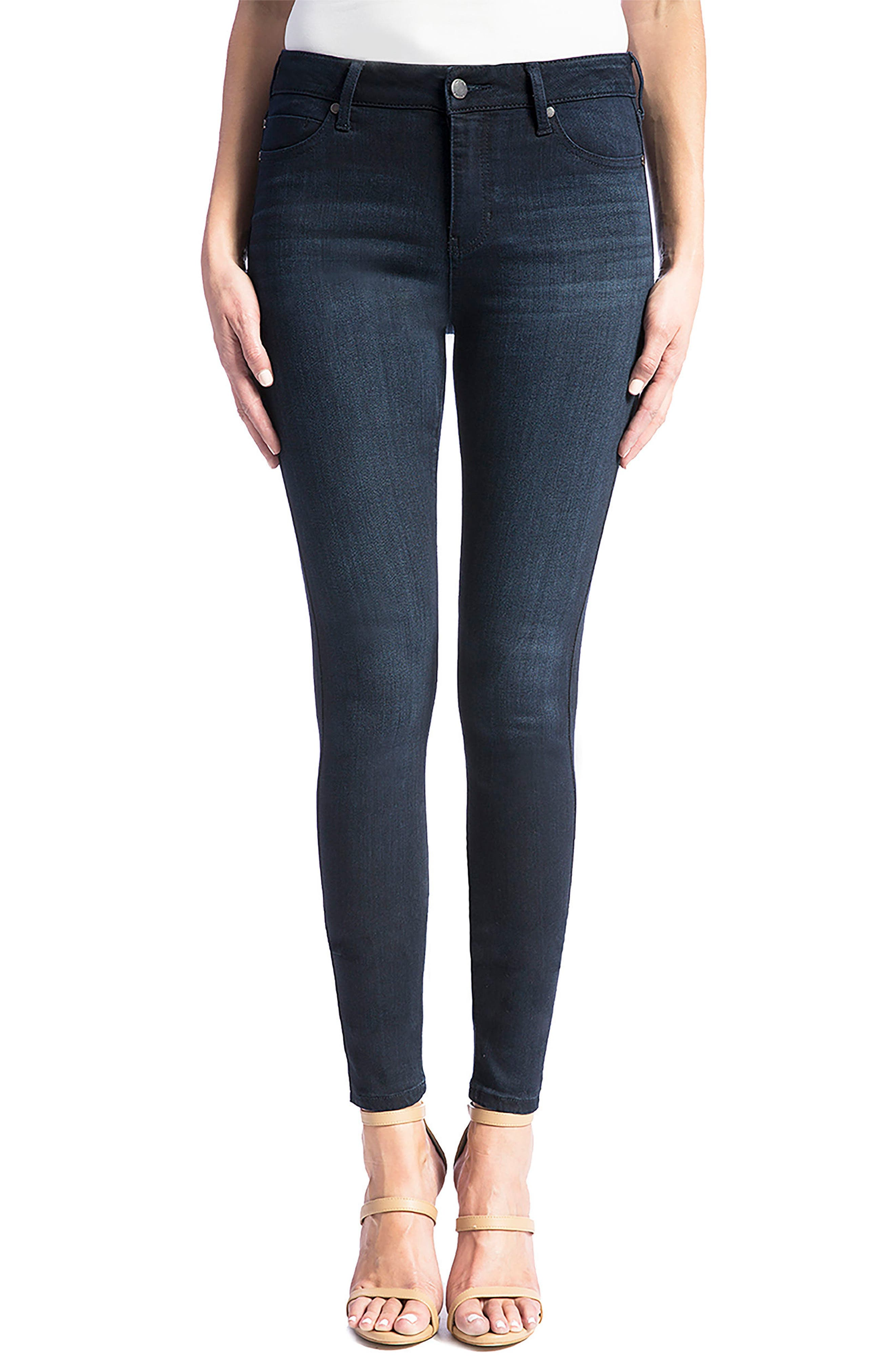 Main Image - Liverpool Jeans Co. Abby Stretch Skinny Jeans (Stone) (Petite)