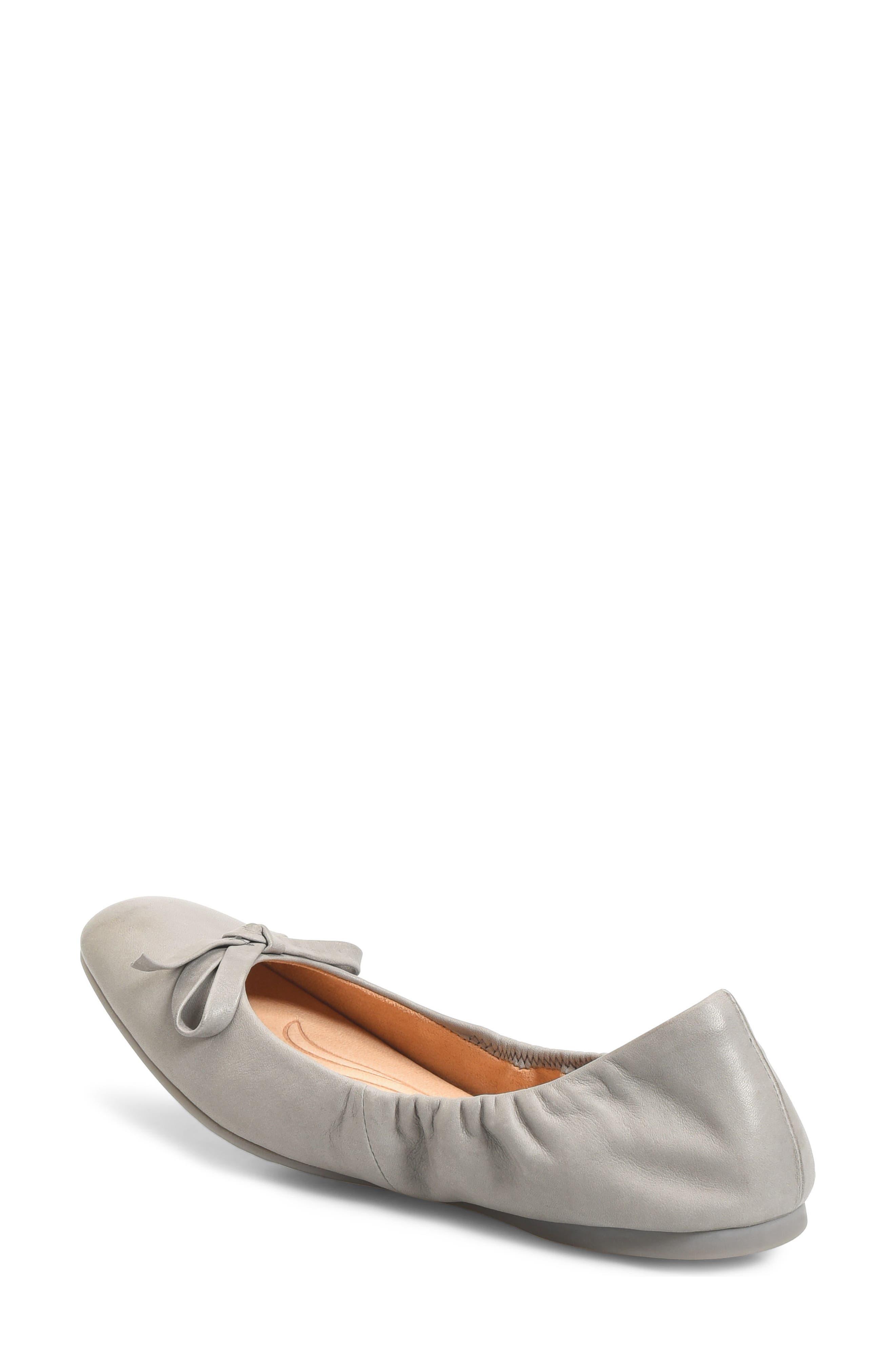 Karoline Ballet Flat,                             Alternate thumbnail 2, color,                             Grey Leather