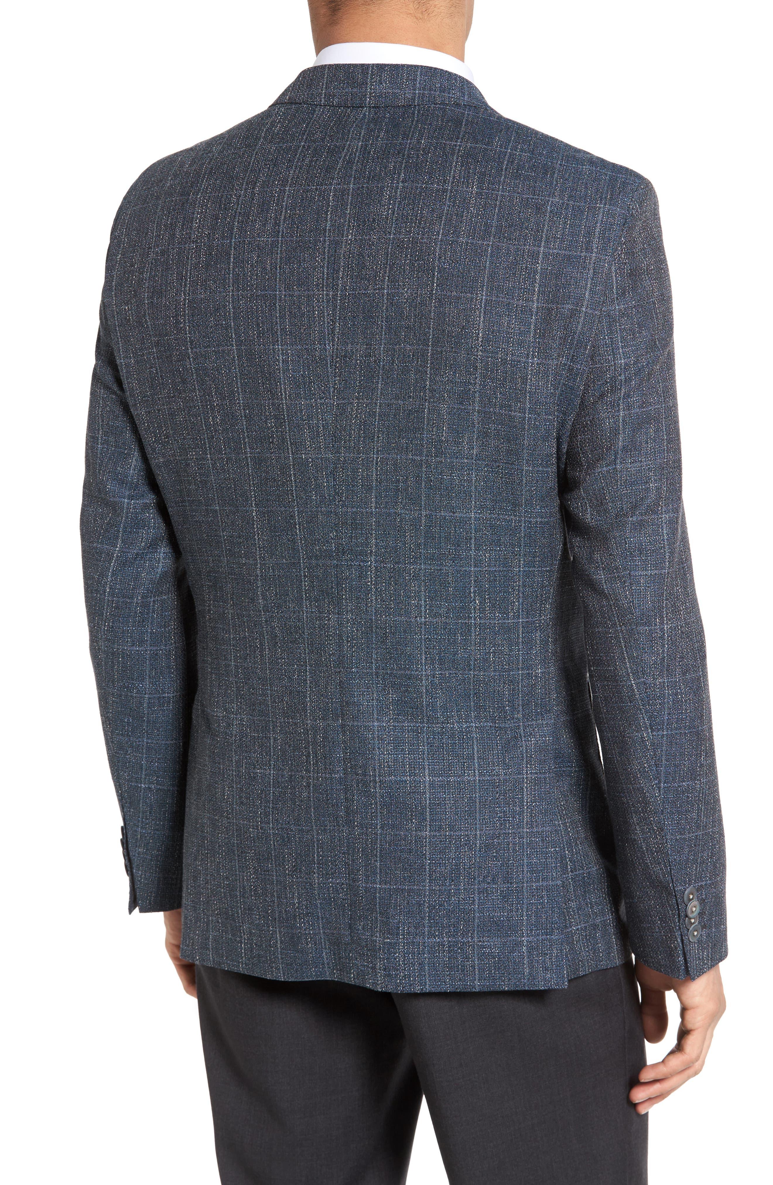 Alternate Image 2  - BOSS Janson Trim Fit Windowpane Wool Blend Sport Coat
