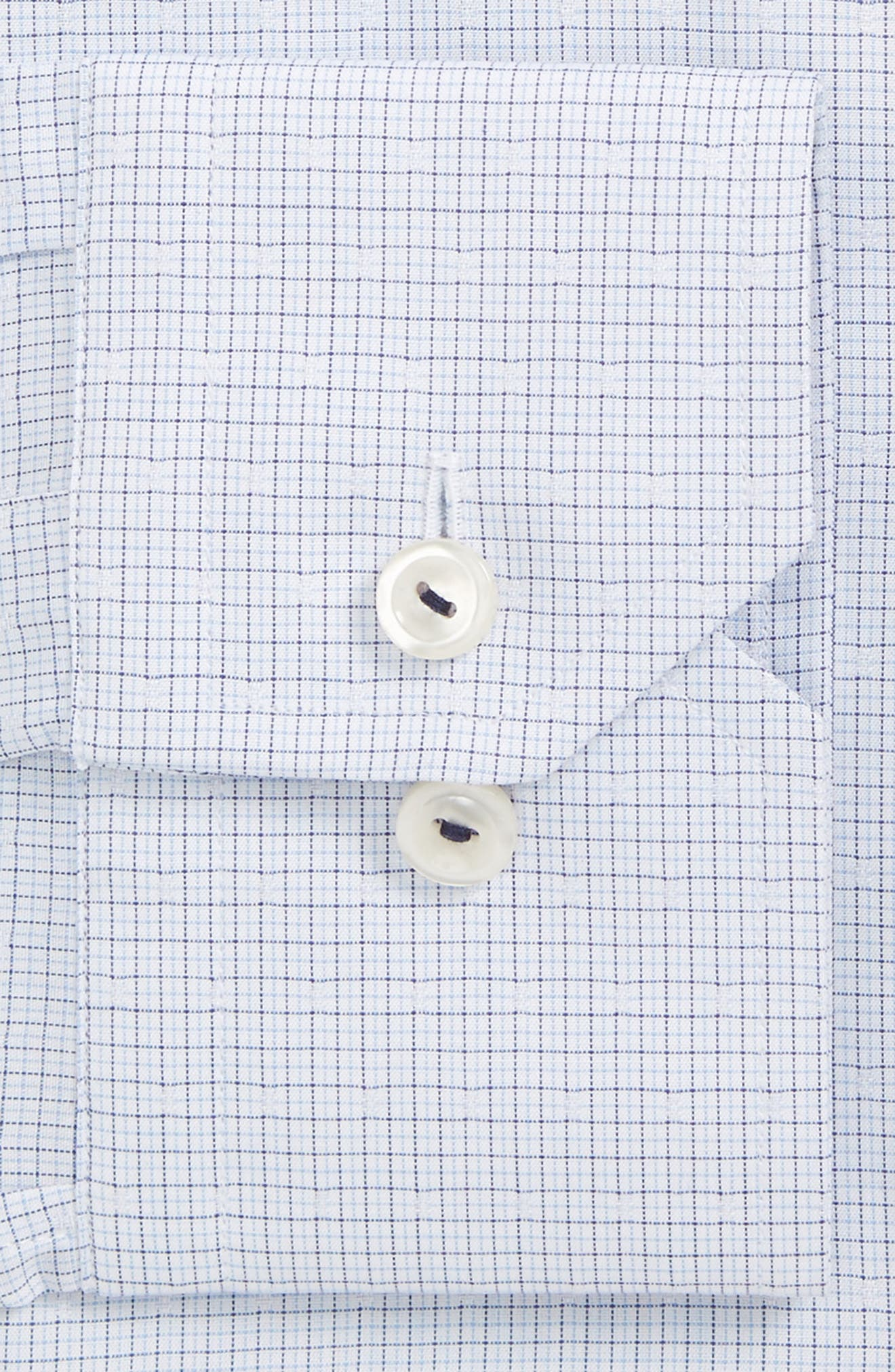 Slim Fit Microcheck Dress Shirt,                             Alternate thumbnail 2, color,                             Blue Check
