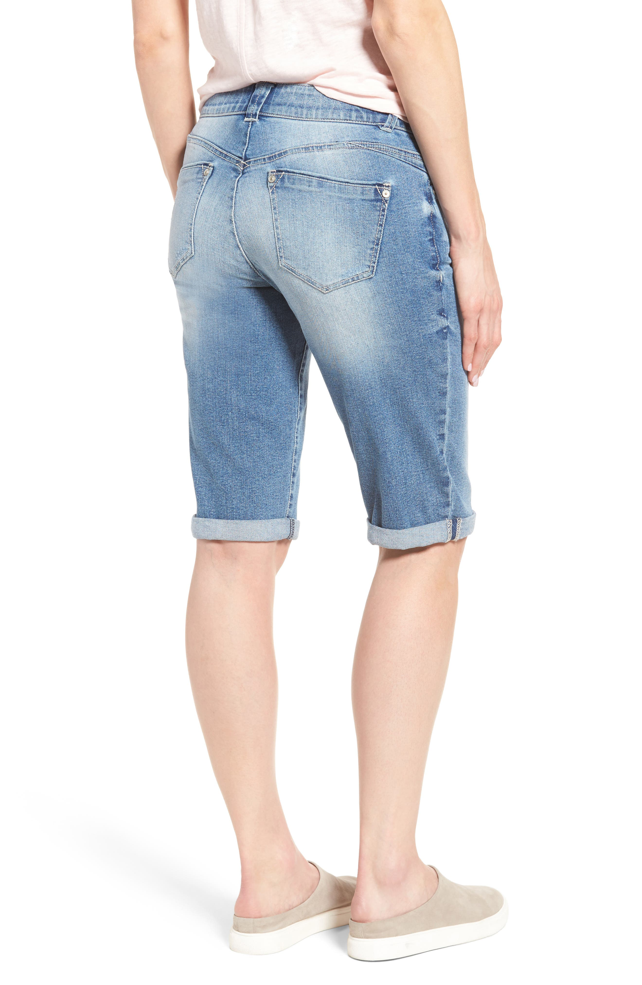 Alternate Image 2  - Wit & Wisdom Ab-solution Ripped Denim Bermuda Shorts (Regular & Petite) (Nordstrom Exclusive)