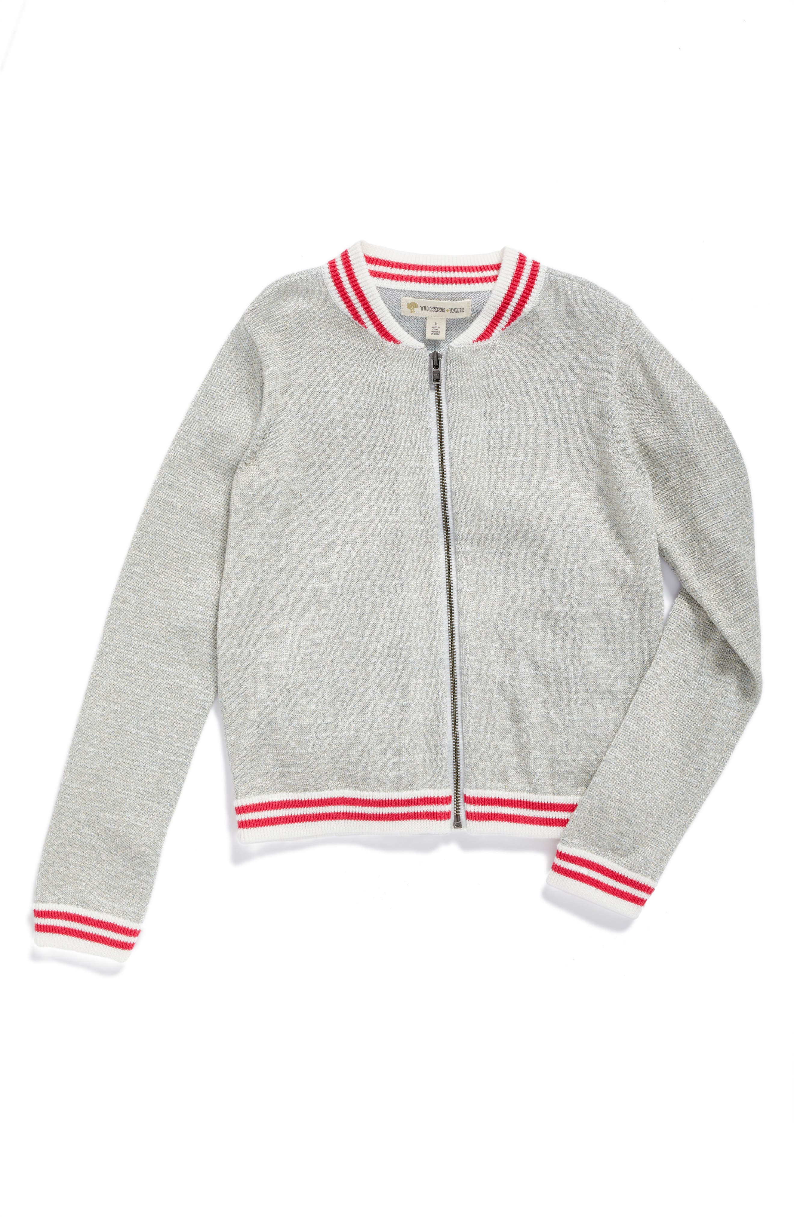 Tucker + Tate Bomber Sweater (Toddler Girls, Little Girls & Big Girls)