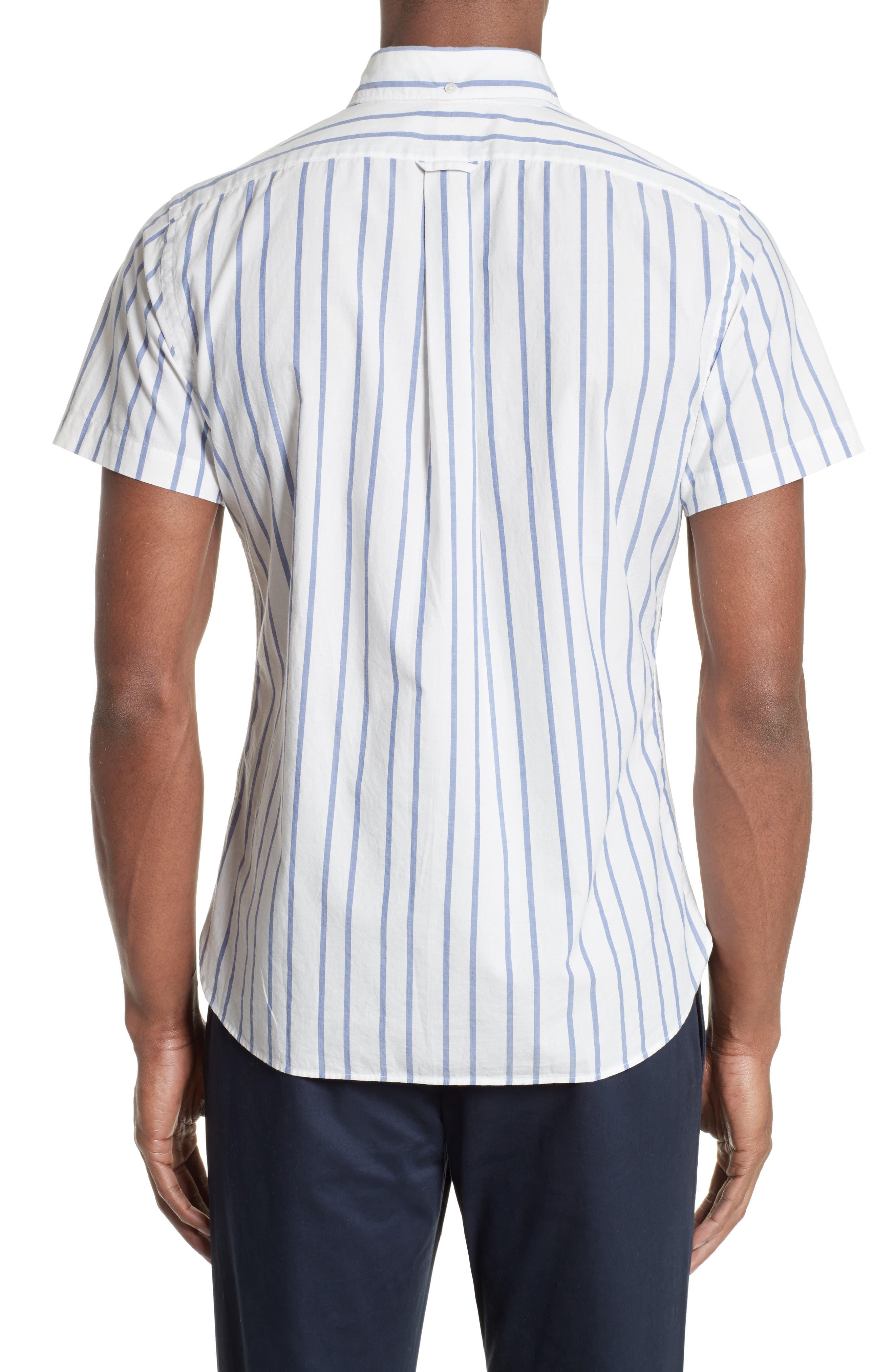Alternate Image 2  - Todd Snyder Trim Fit Stripe Sport Shirt