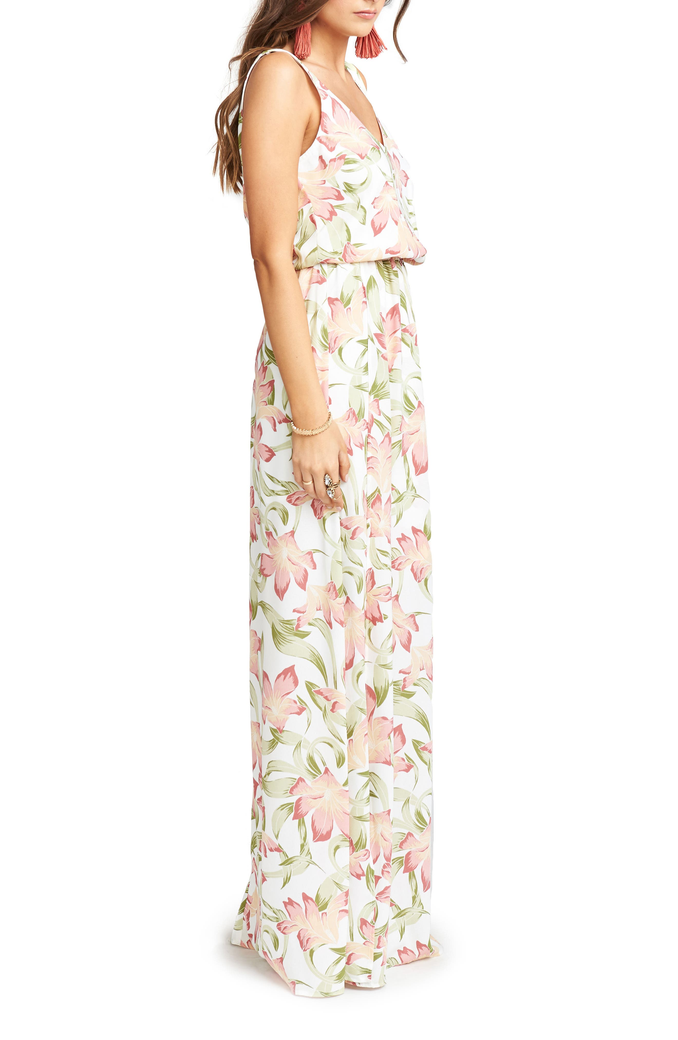 Kendall Maxi Dress,                             Alternate thumbnail 3, color,                             Lily Lady Crepe