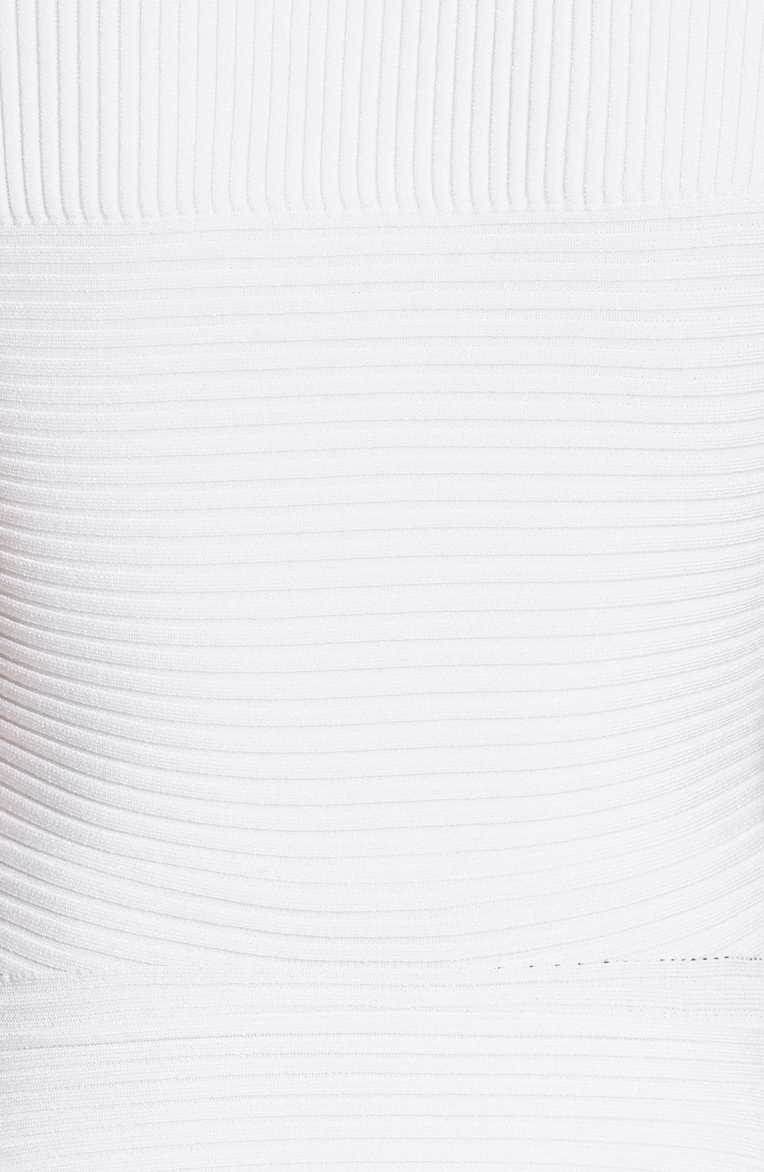 Curved Hem Peplum Top,                             Alternate thumbnail 3, color,                             White