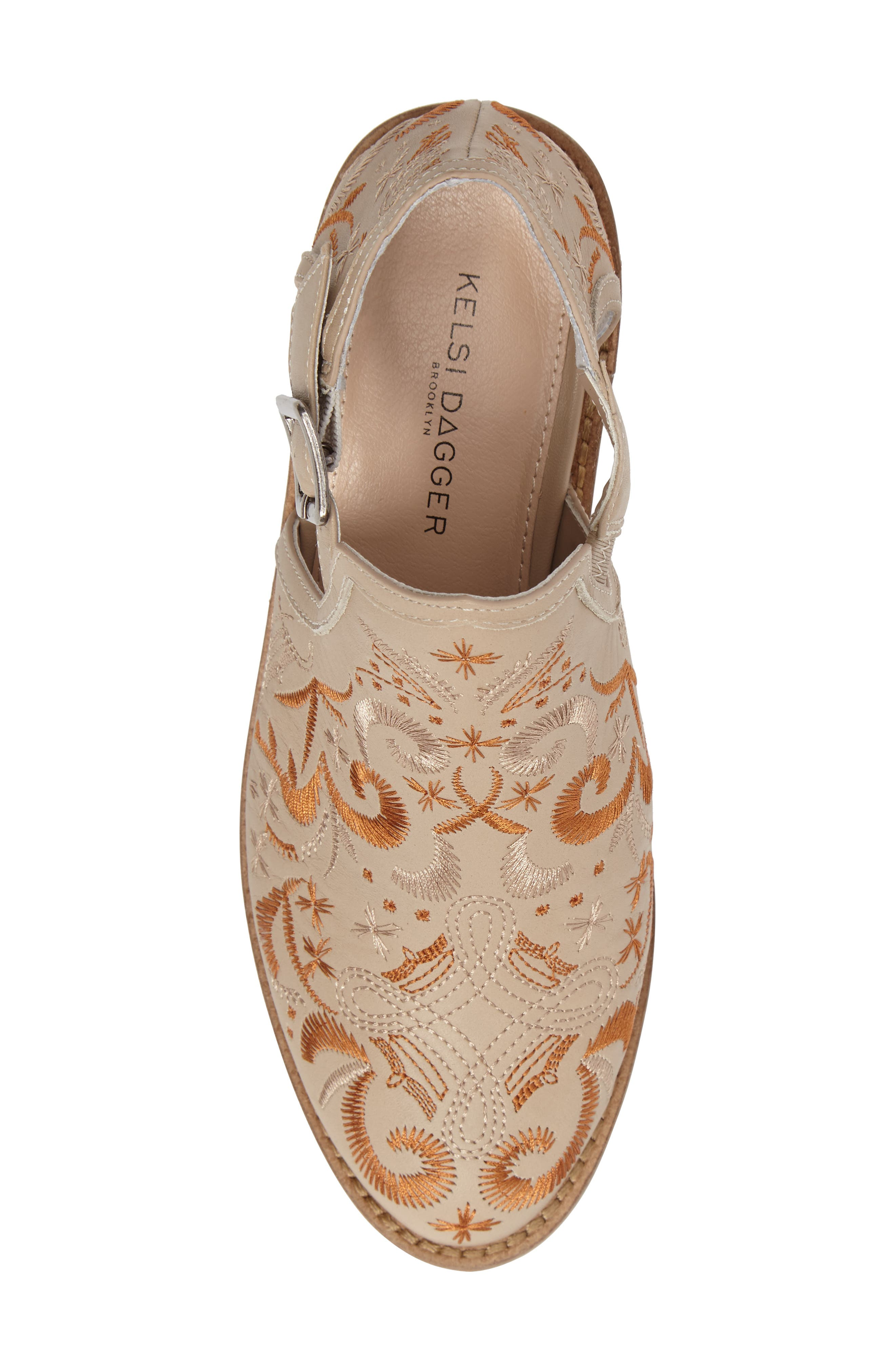 Kline Embroidered Bootie,                             Alternate thumbnail 5, color,                             Wheat Leather